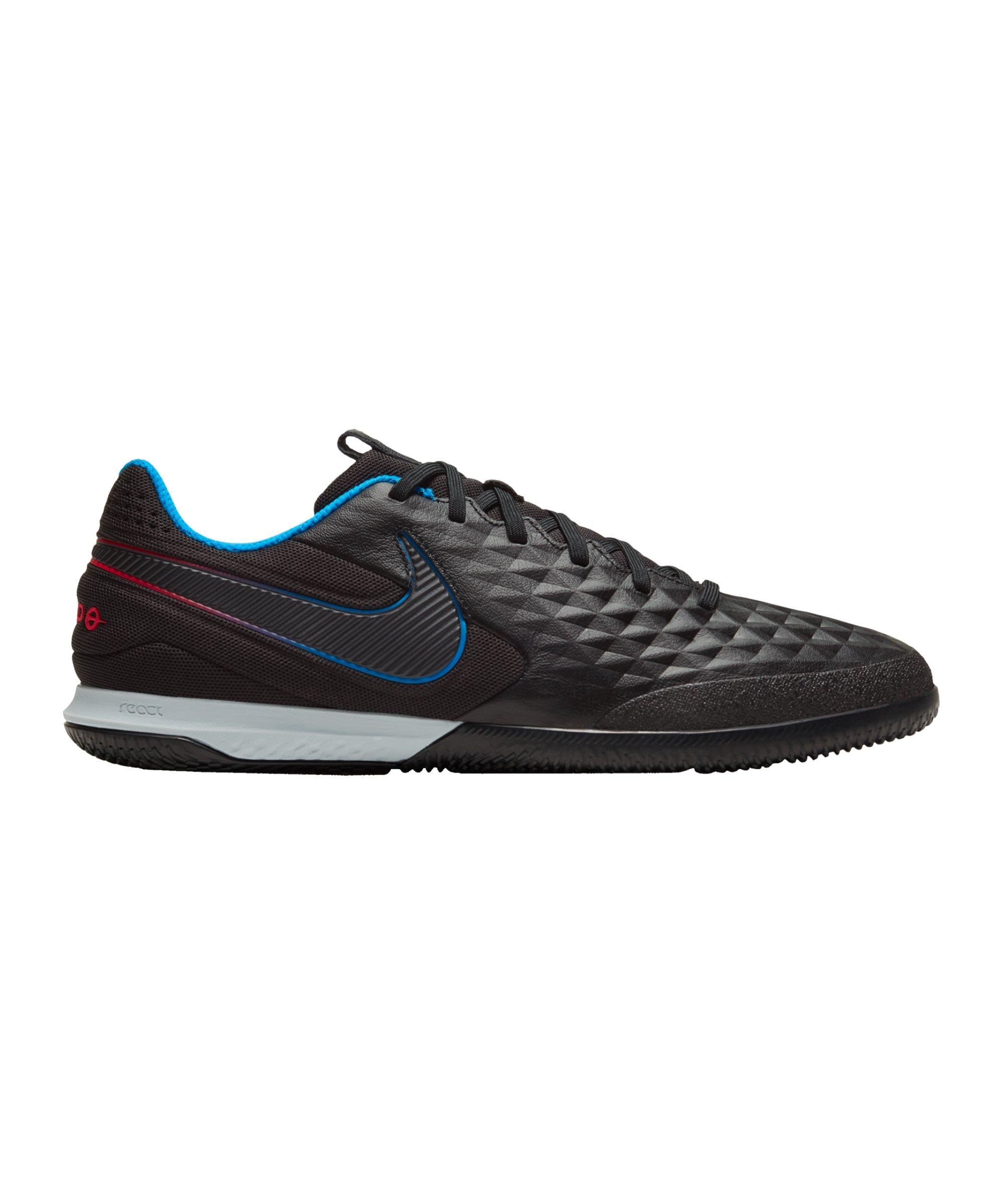 Nike Tiempo Legend VIII Black X Prism Pro React IC Schwarz Blau Rot F090 - schwarz