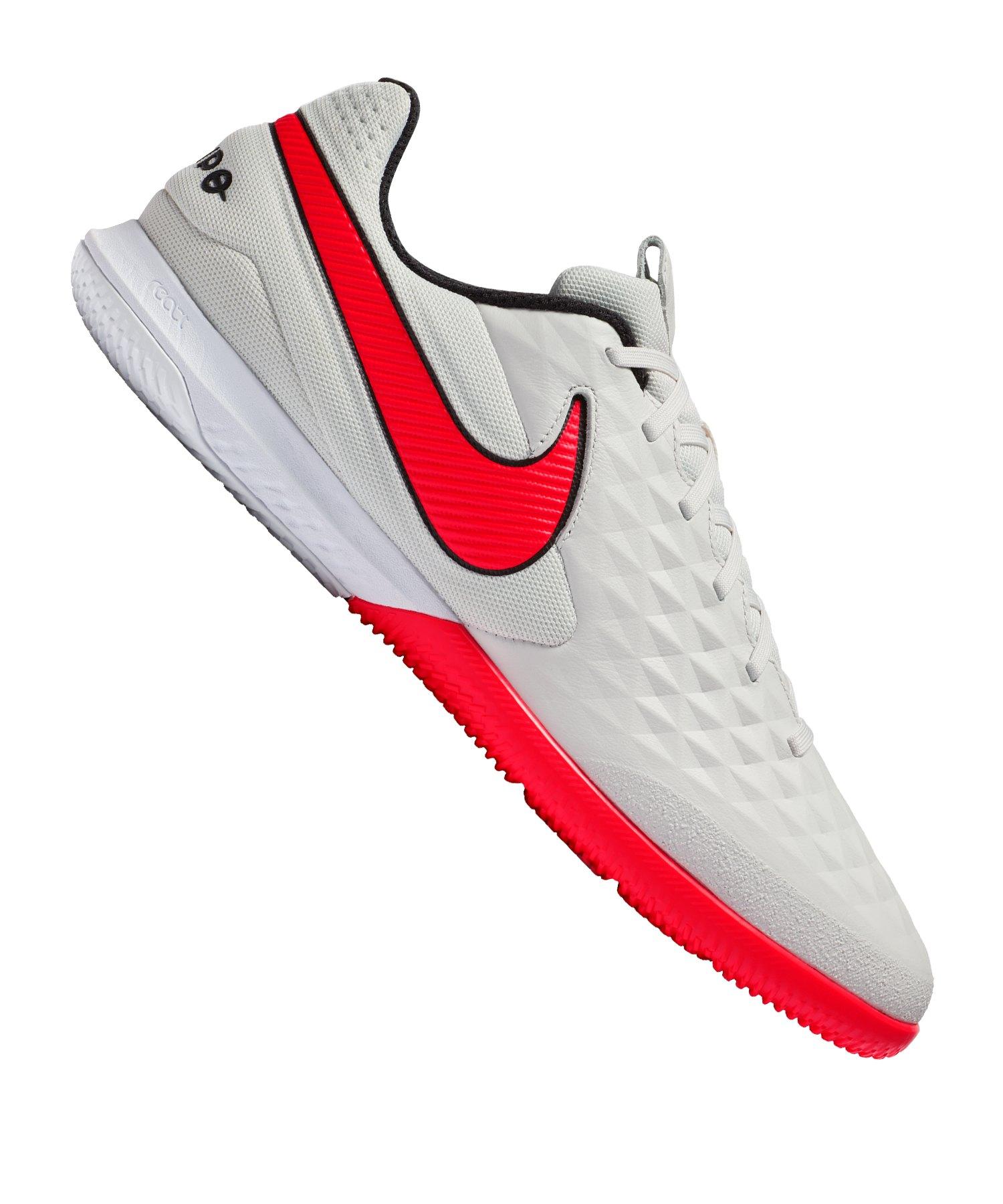 Nike Tiempo Legend VIII Pro React IC Grau Rot F061 - grau