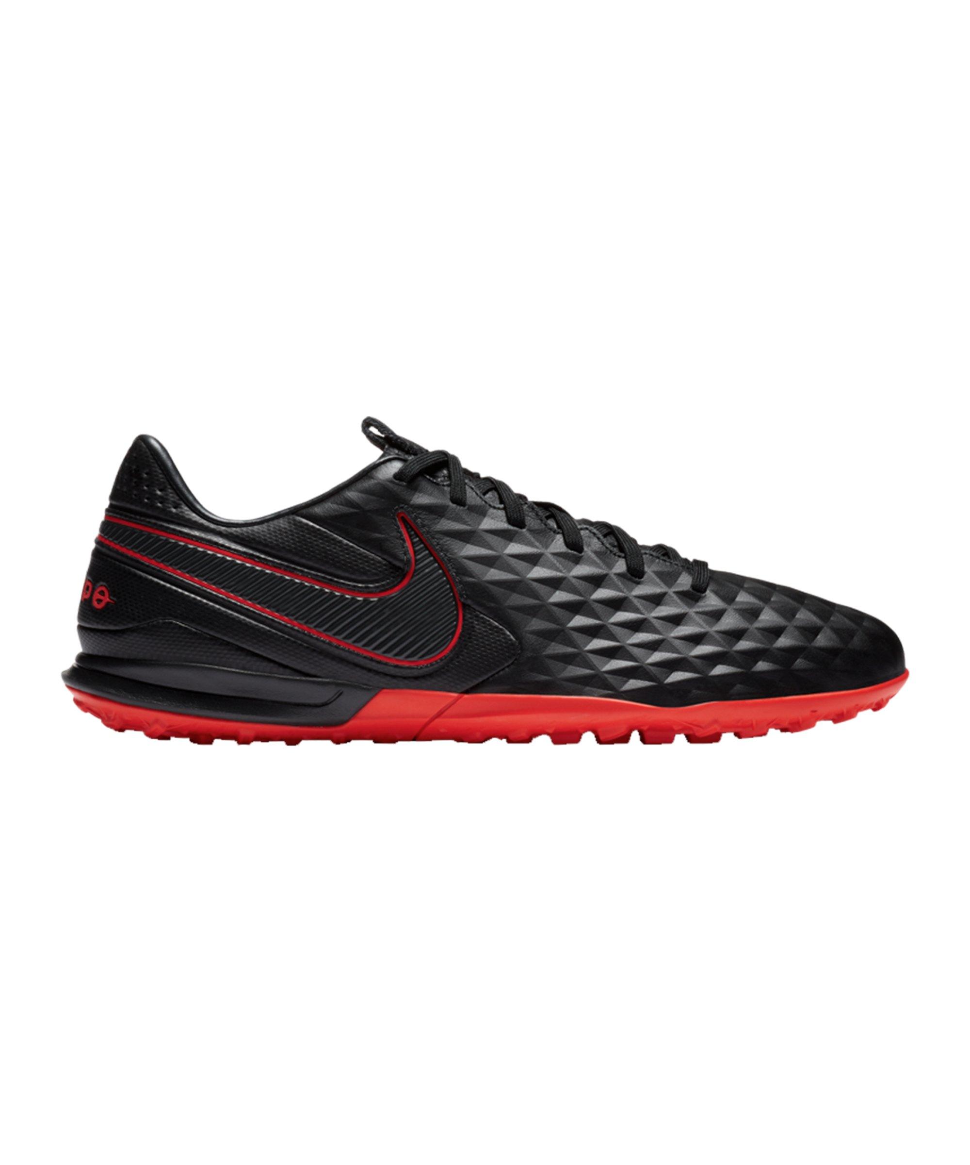 Nike Tiempo Legend VIII Black X Chile Red Pro TF Schwarz F060 - schwarz