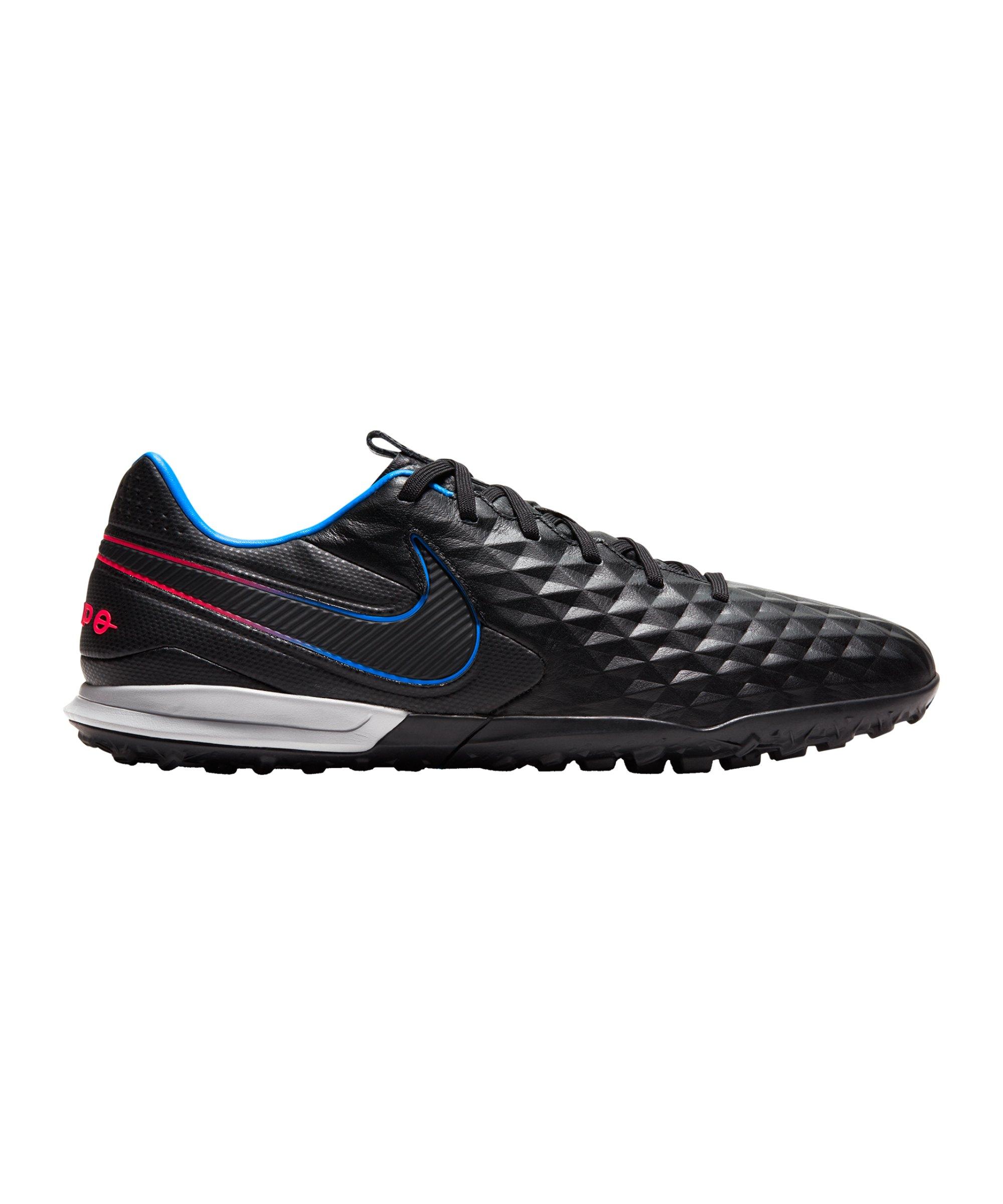 Nike Tiempo Legend VIII Black X Prism Pro TF Schwarz Blau Rot F090 - schwarz