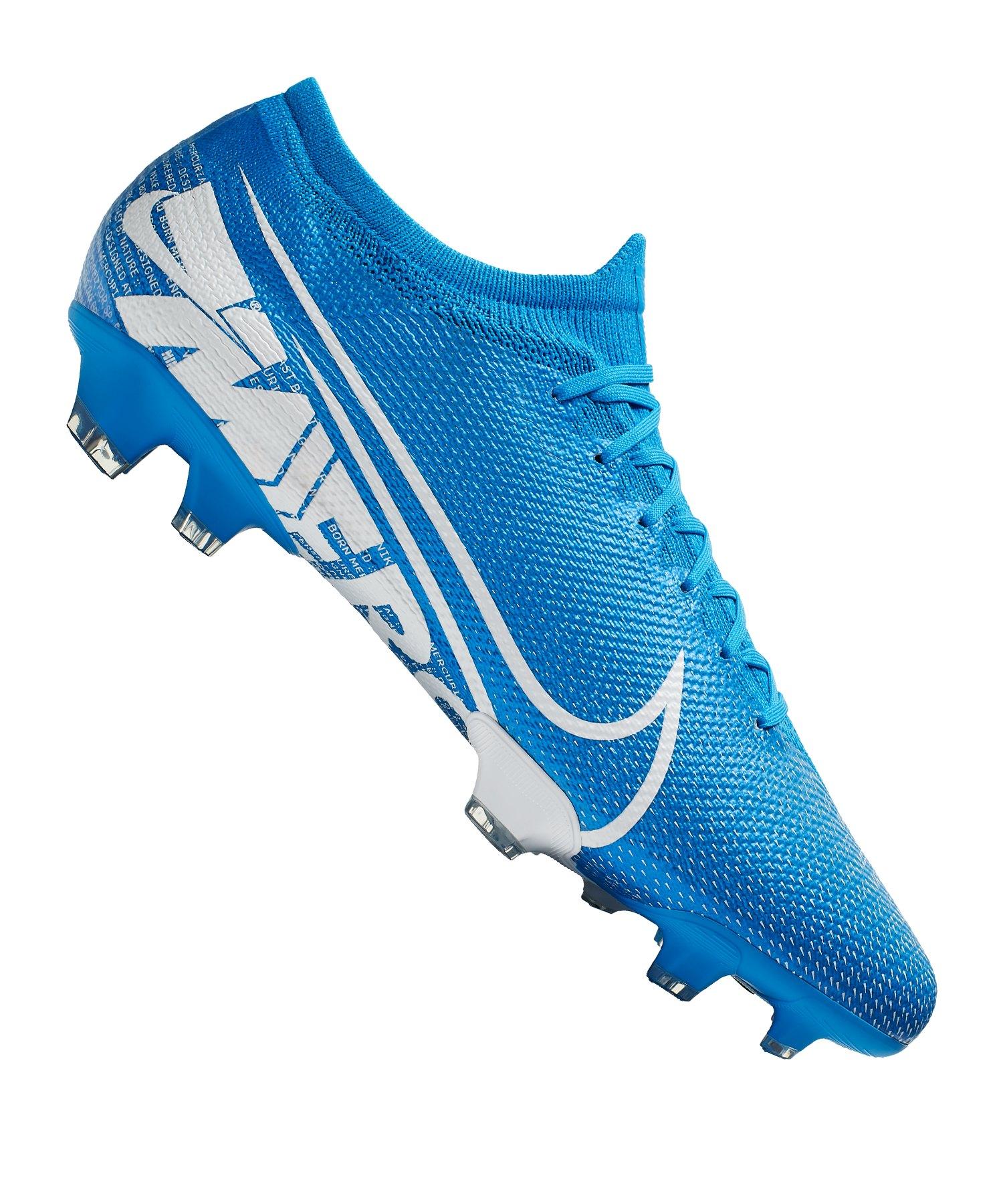 Nike Mercurial Vapor XIII Pro FG Blau Weiss F414 - blau