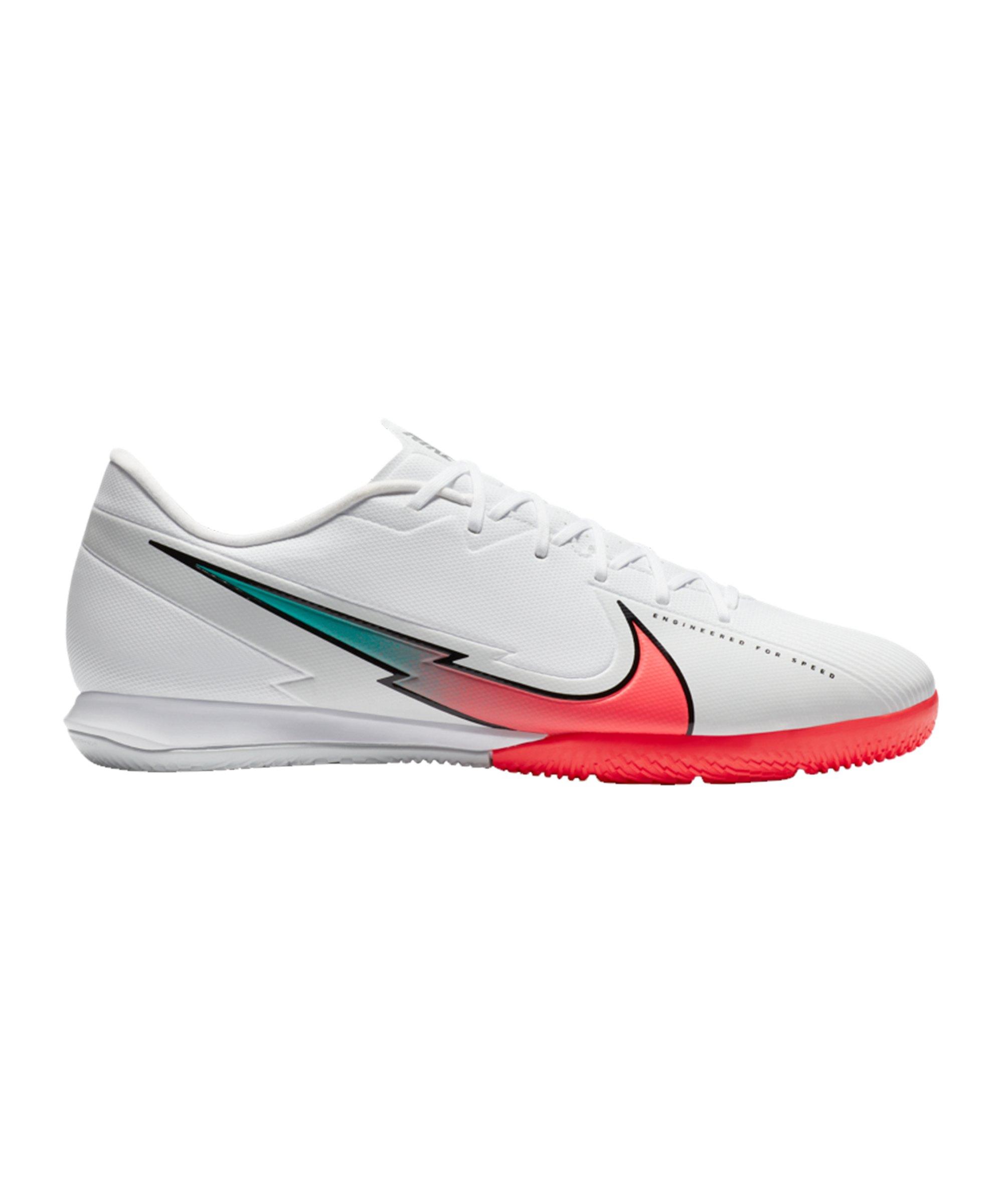 Nike Mercurial Vapor XIII Flash Crimson Academy IC Weiss F163 - weiss