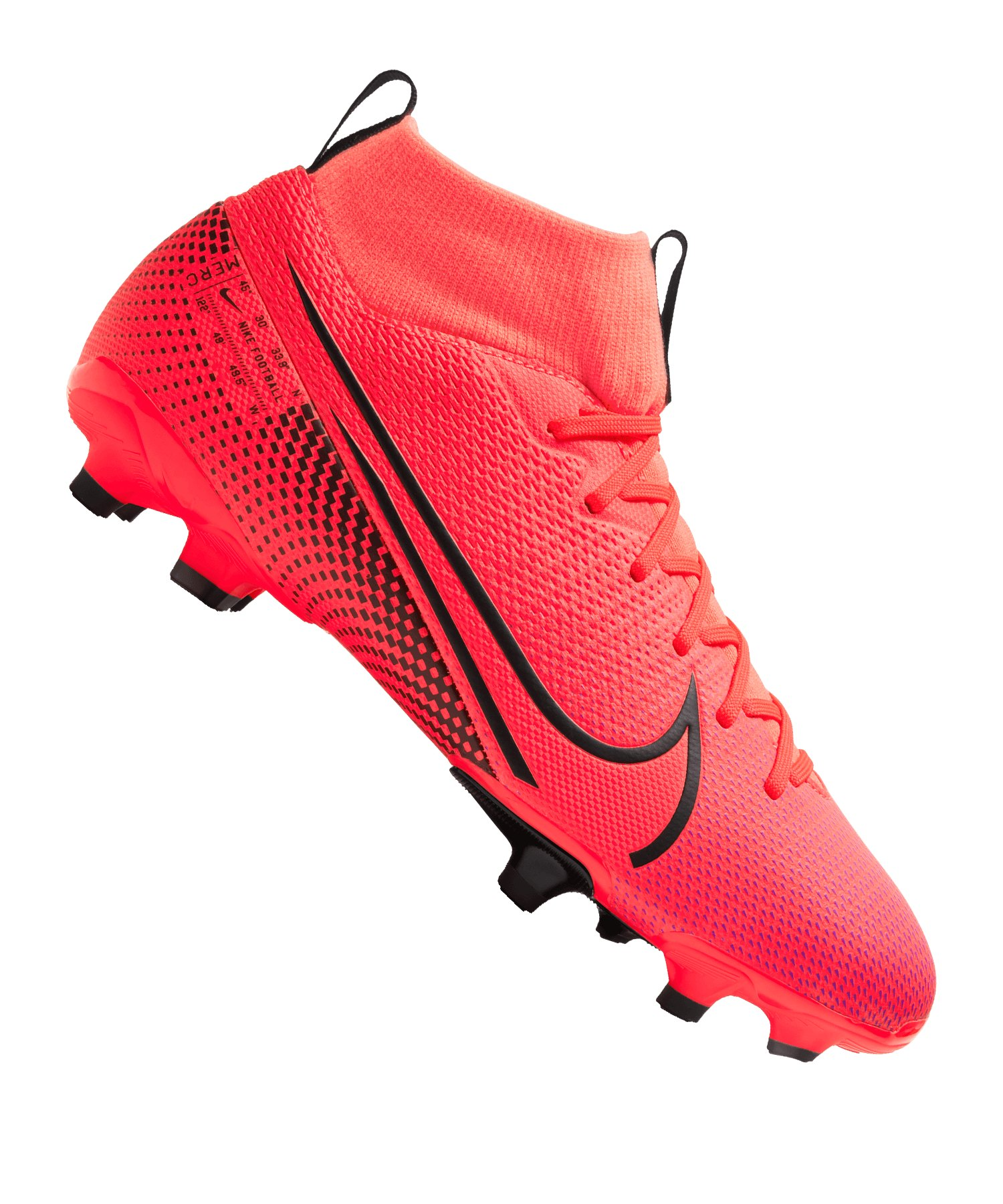 Nike Jr Mercurial Superfly VII Academy MG Kids Rot F606 - rot
