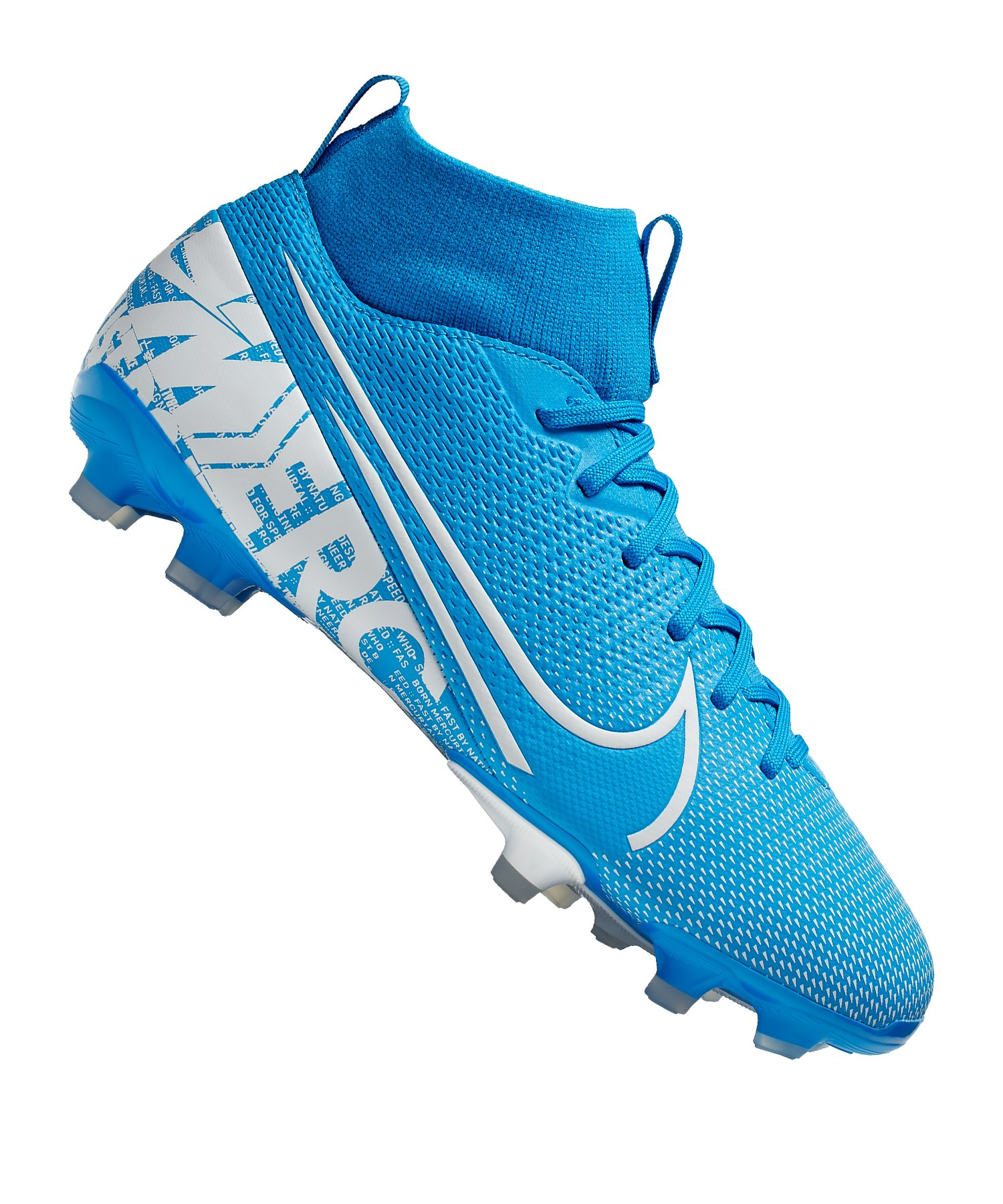 Nike Mercurial Superfly VII Academy FGMG Kids F414 - blau