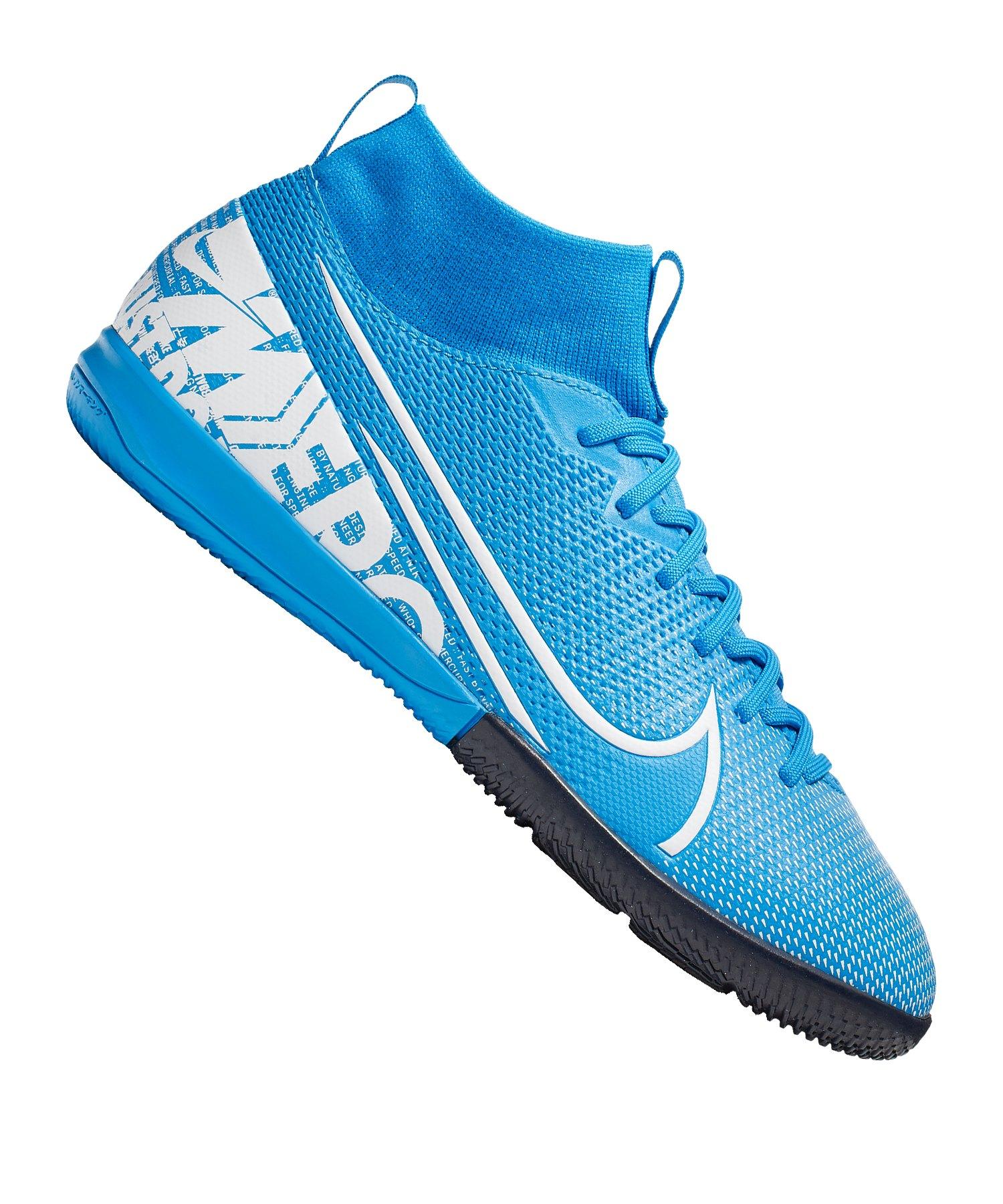 Nike Mercurial Superfly VII Academy IC Kids F414 - blau