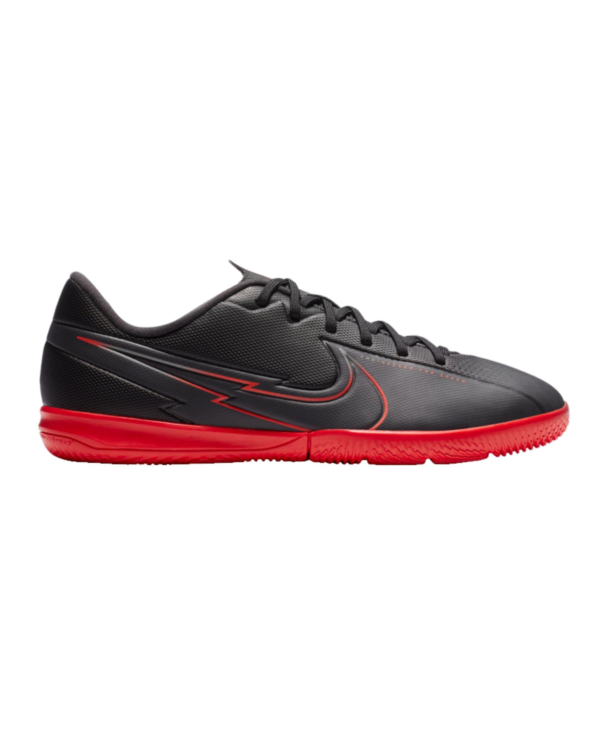 Nike Jr Mercurial Vapor XIII Black X Chile Red Academy IC Kids Schwarz F060 - schwarz