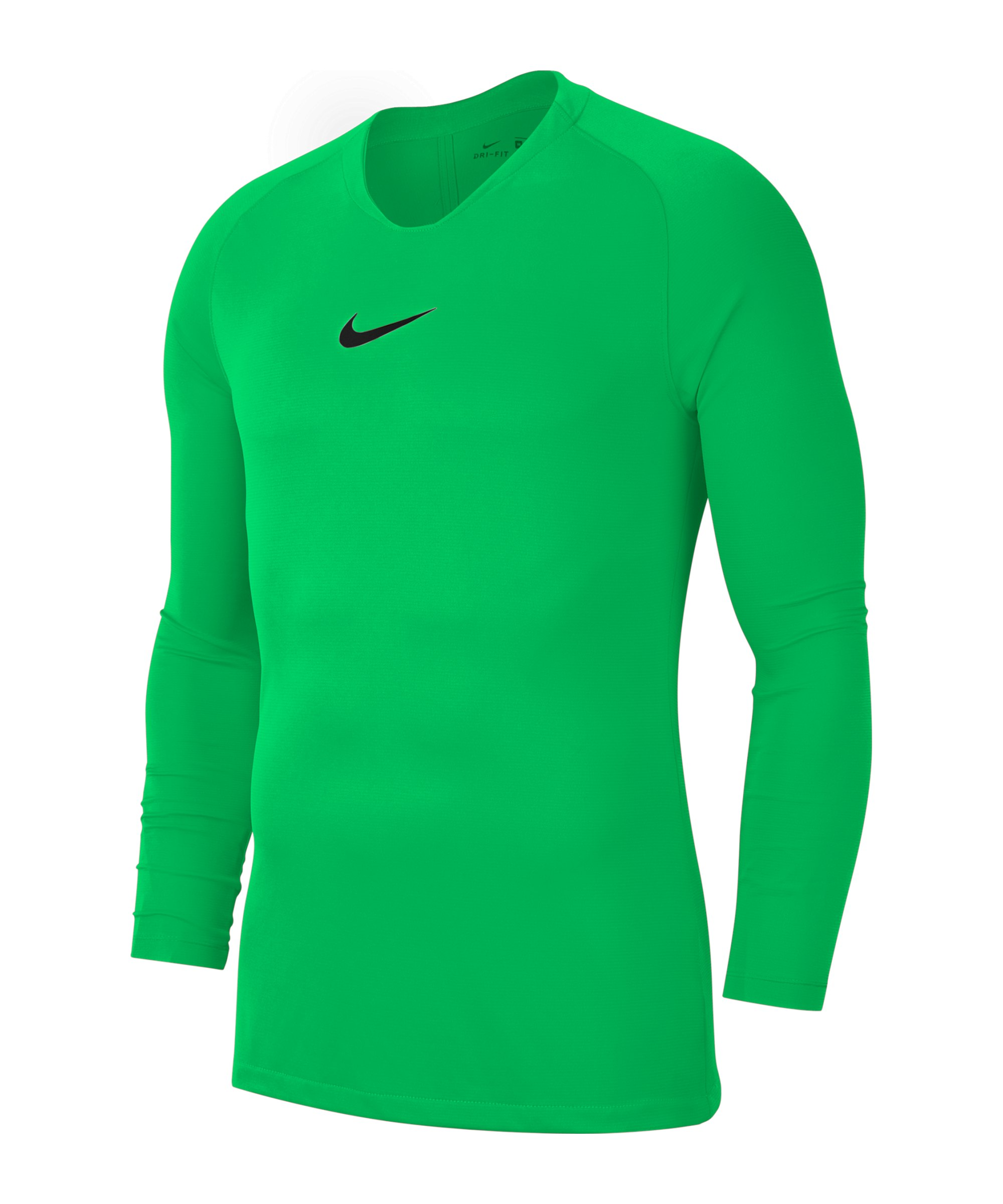 Nike Park First Layer Top langarm Hellgrün F329 - gruen
