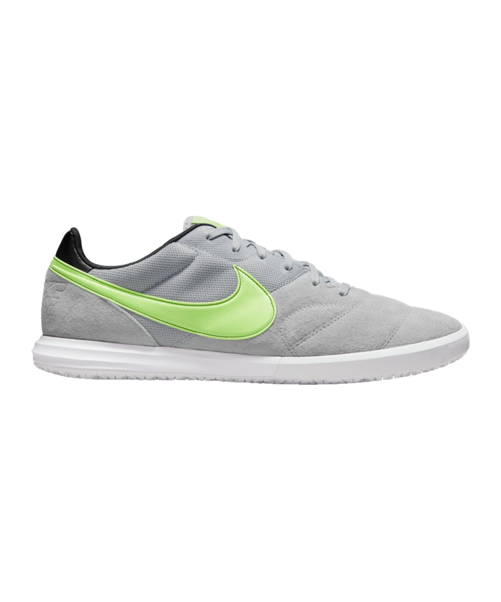 Nike Premier II Sala IC Grau Grün Weiss F012 - grau