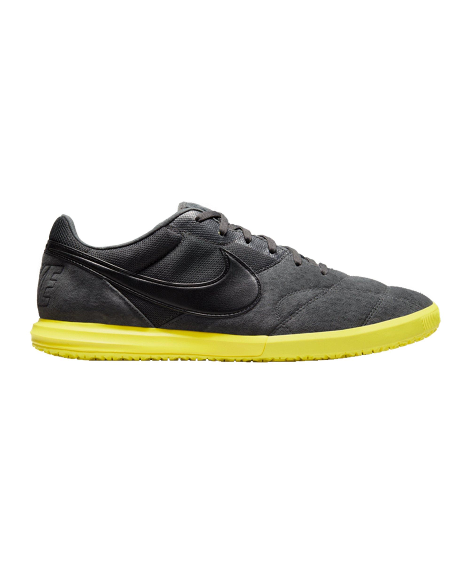 Nike Premier II Sala IC Grau Schwarz Gelb F007 - grau