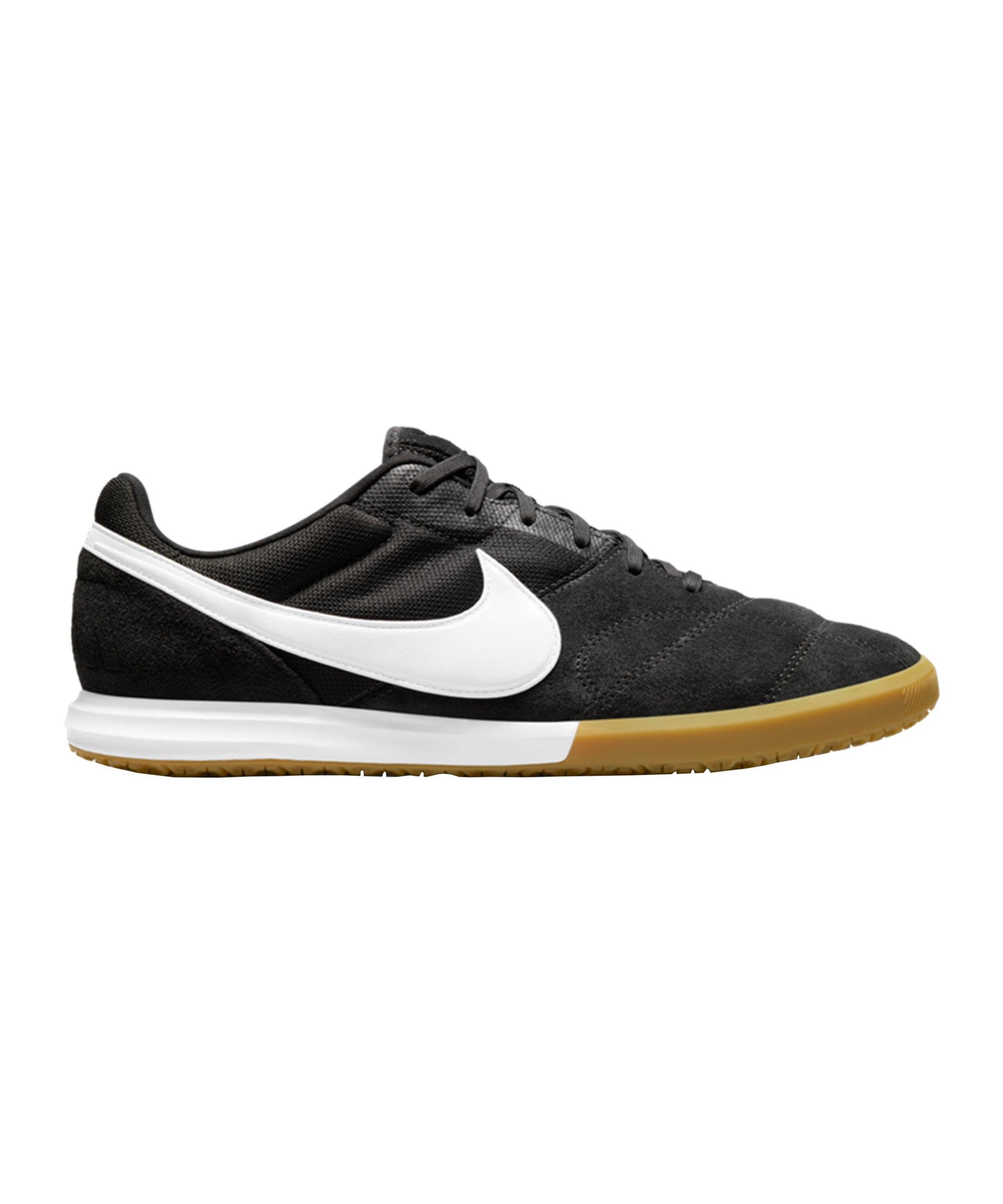 Nike Premier II Sala IC Schwarz Weiss Braun F019 - schwarz