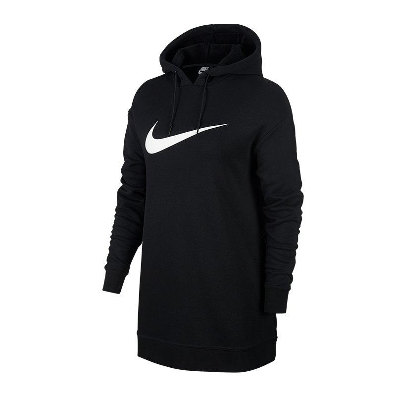 Nike Swoosh Oversize Kapuzensweatshirt F010 - Schwarz