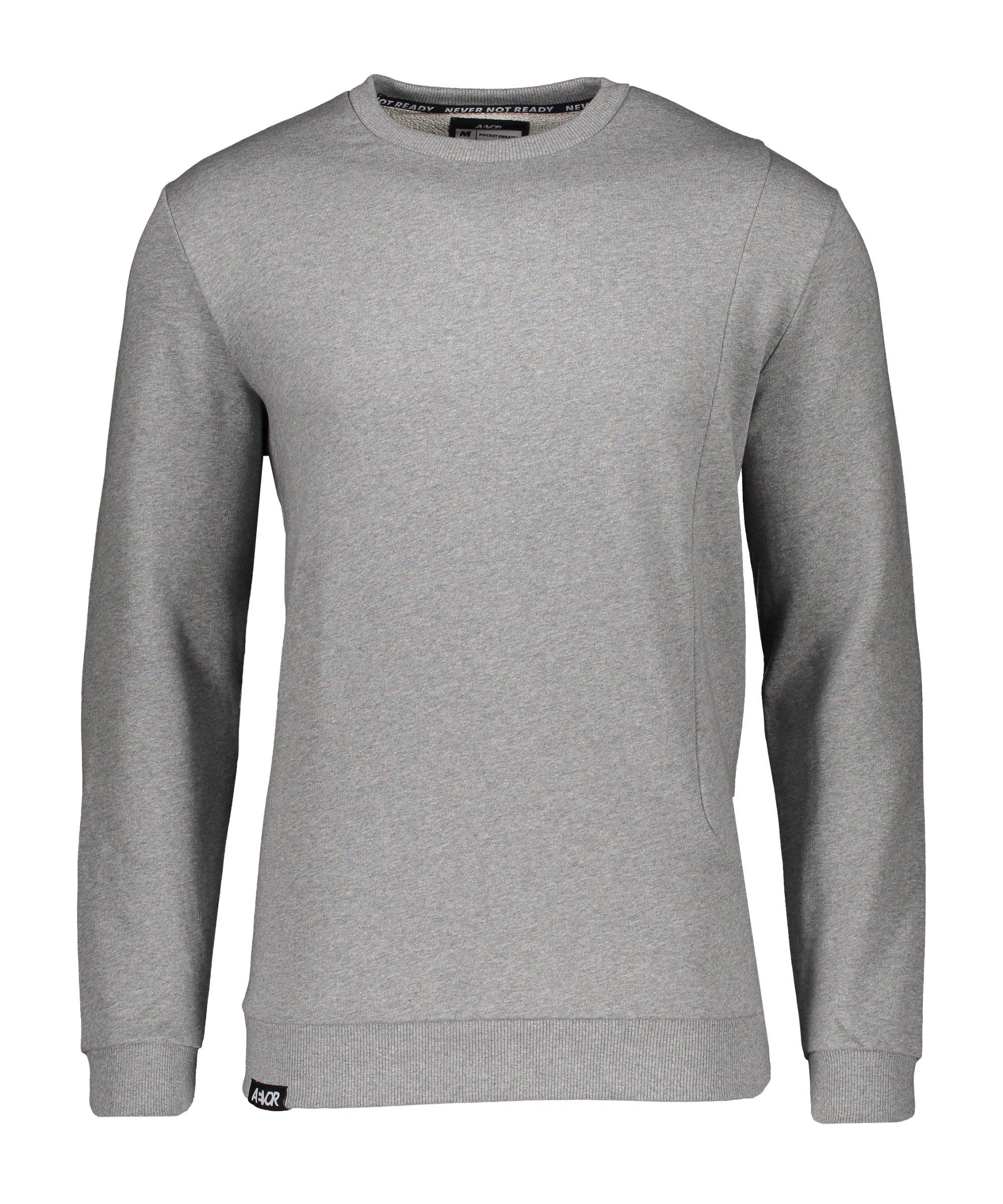 AEVOR Pocket Sweatshirt Grau F80078 - grau
