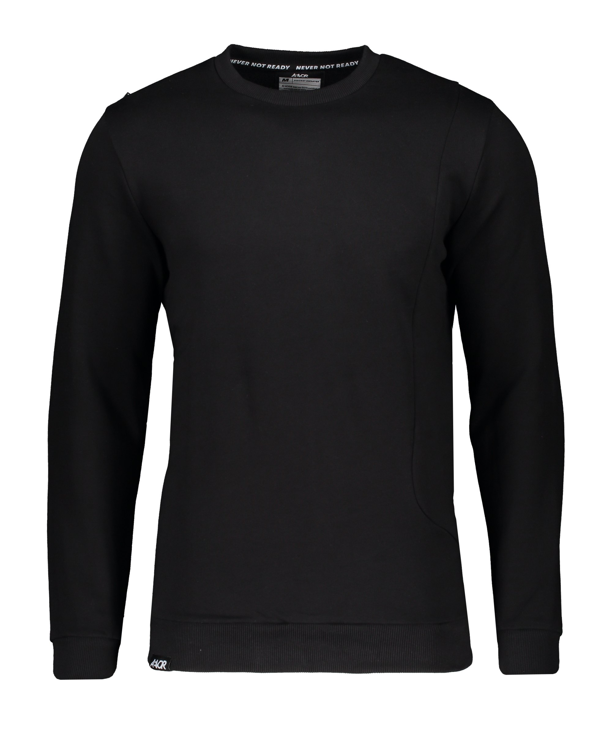 AEVOR Pocket Sweatshirt Schwarz F801 - schwarz