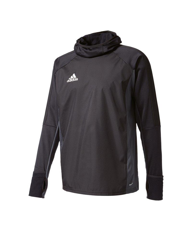 adidas Tiro 17 Warm Top Sweatshirt Schwarz - schwarz
