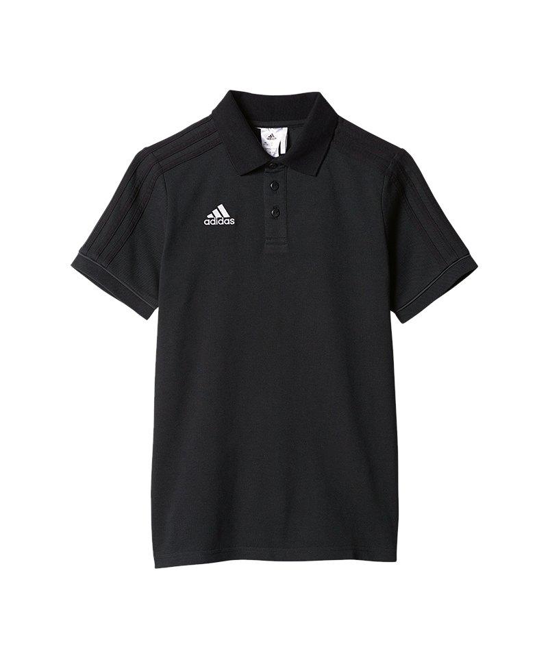 adidas Poloshirt Tiro 17 Kinder Schwarz Grau - schwarz