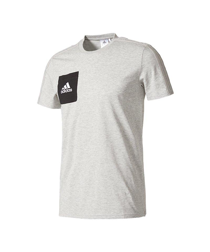 adidas Tiro 17 Tee T-Shirt Grau Schwarz - grau