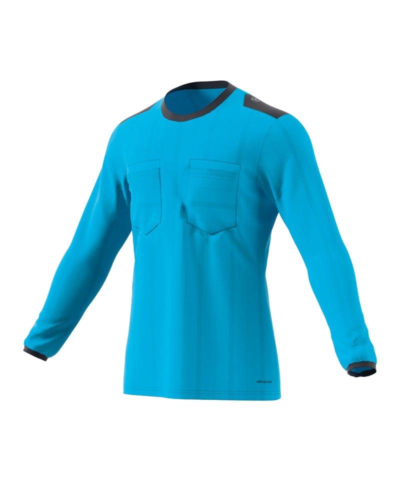 adidas Trikot langarm UCL Referee Blau - blau