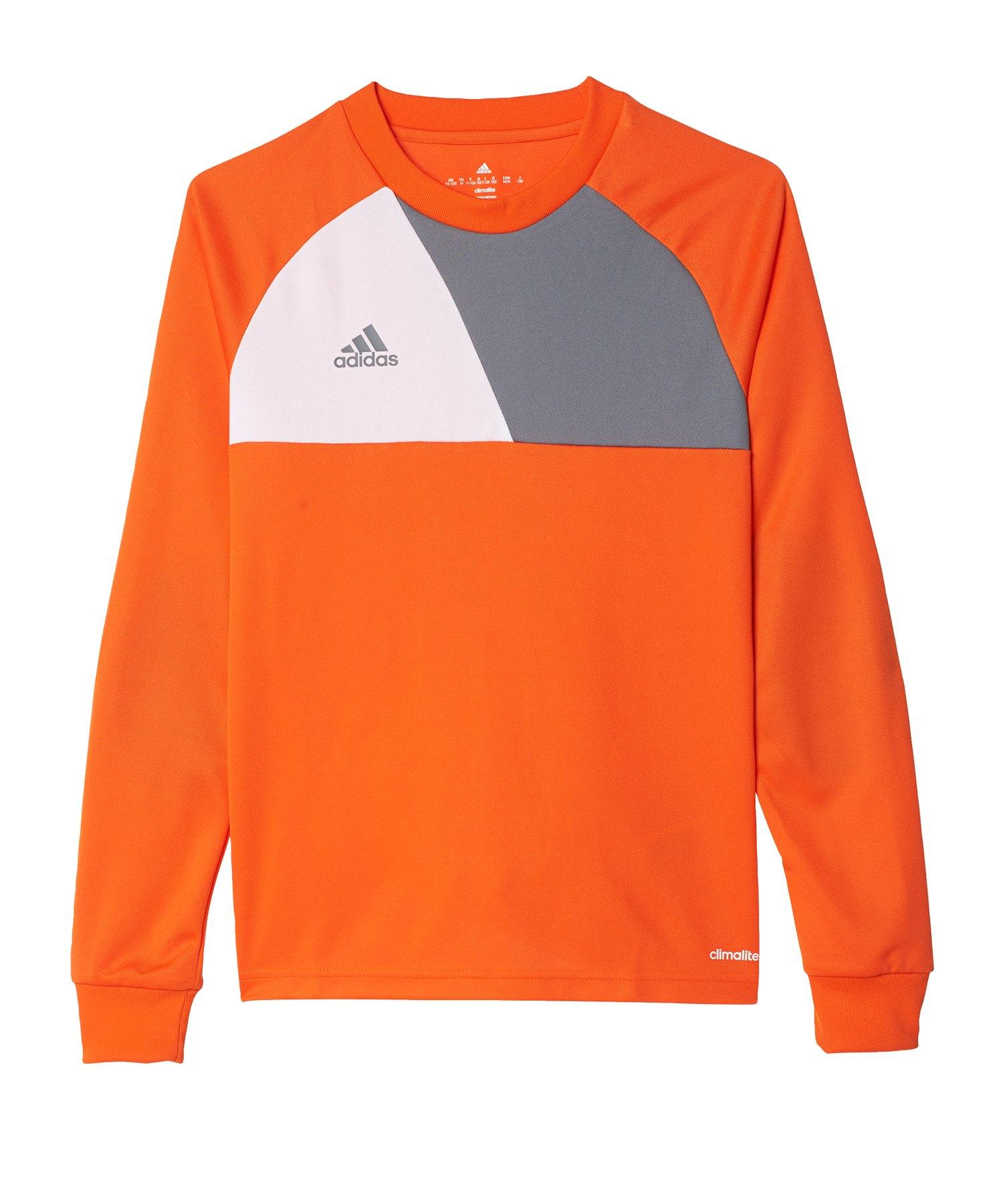 adidas Assita 17 langarm Shirt Kids Orange Weiss - orange