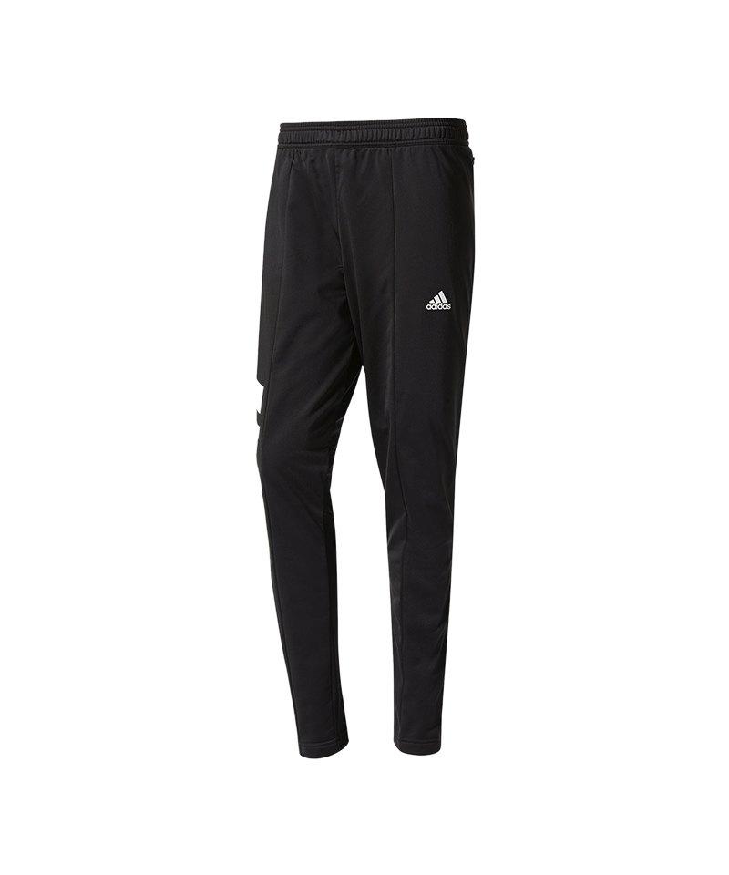 adidas Tanis Training Pant Hose lang Schwarz Weiss - schwarz