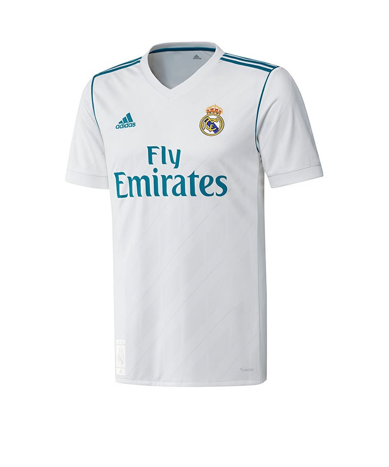adidas Trikot Home Real Madrid Kinder 17/18 - weiss