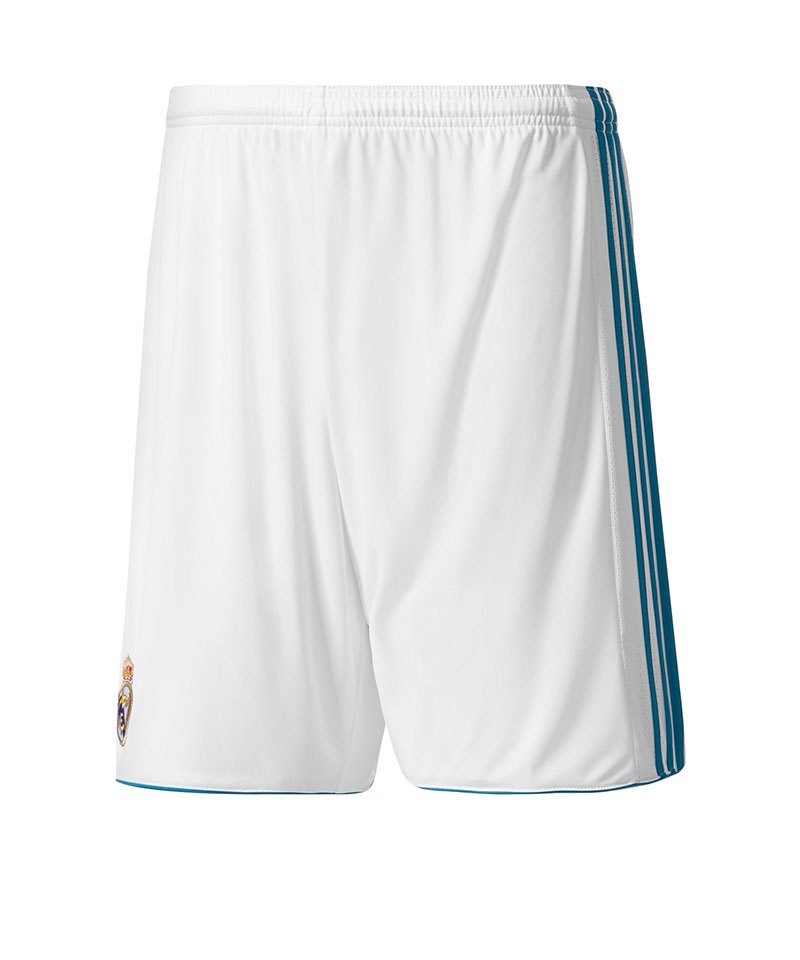 adidas Short Home Real Madrid Kinder 17/18 Weiss - weiss