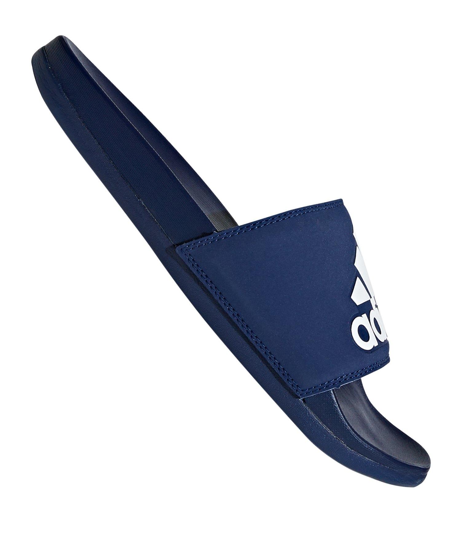 adidas Adilette Comfort Badelatsche Dunkelblau - blau