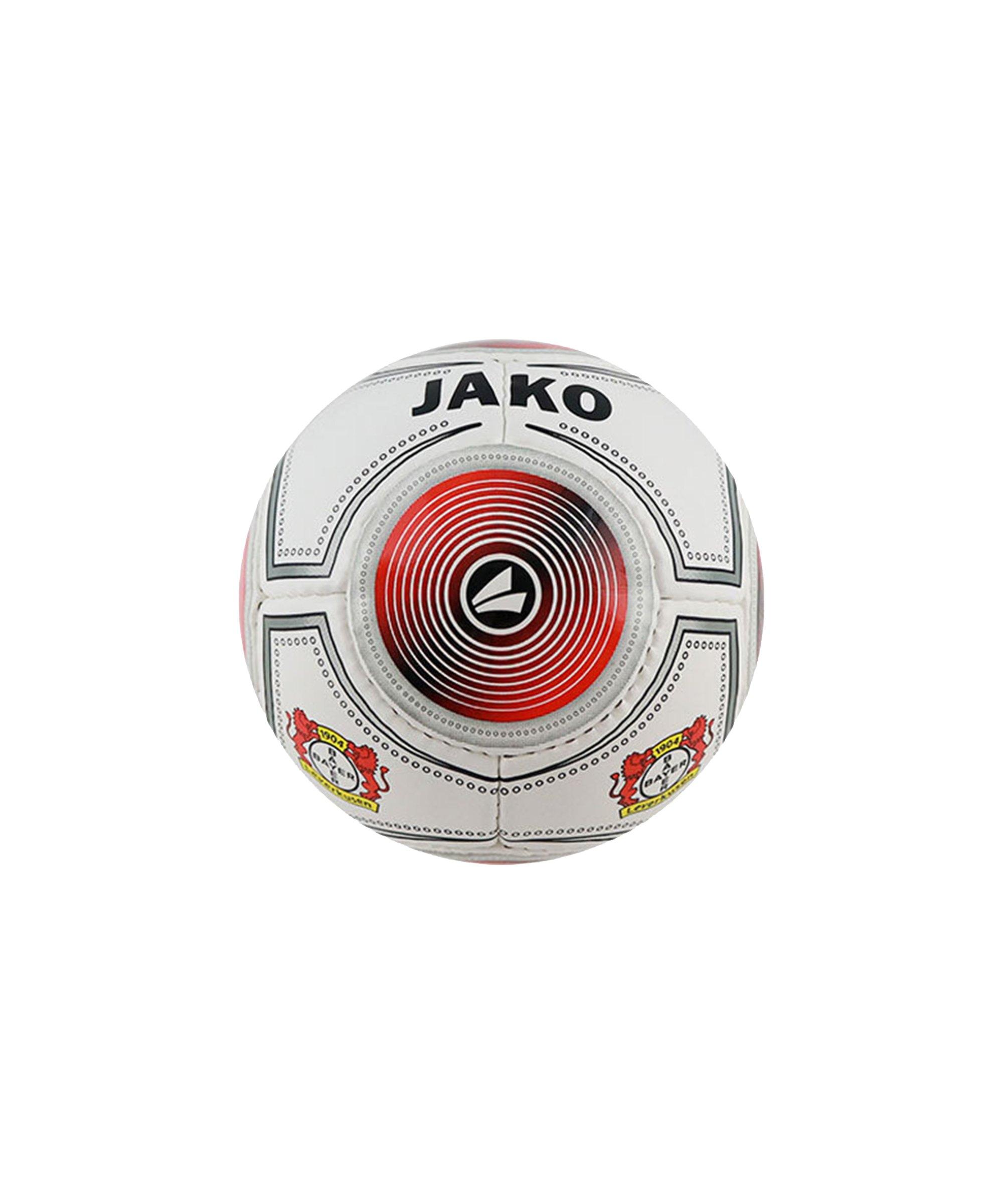 JAKO Bayer 04 Leverkusen Miniball Weiss Rot F03 - weiss