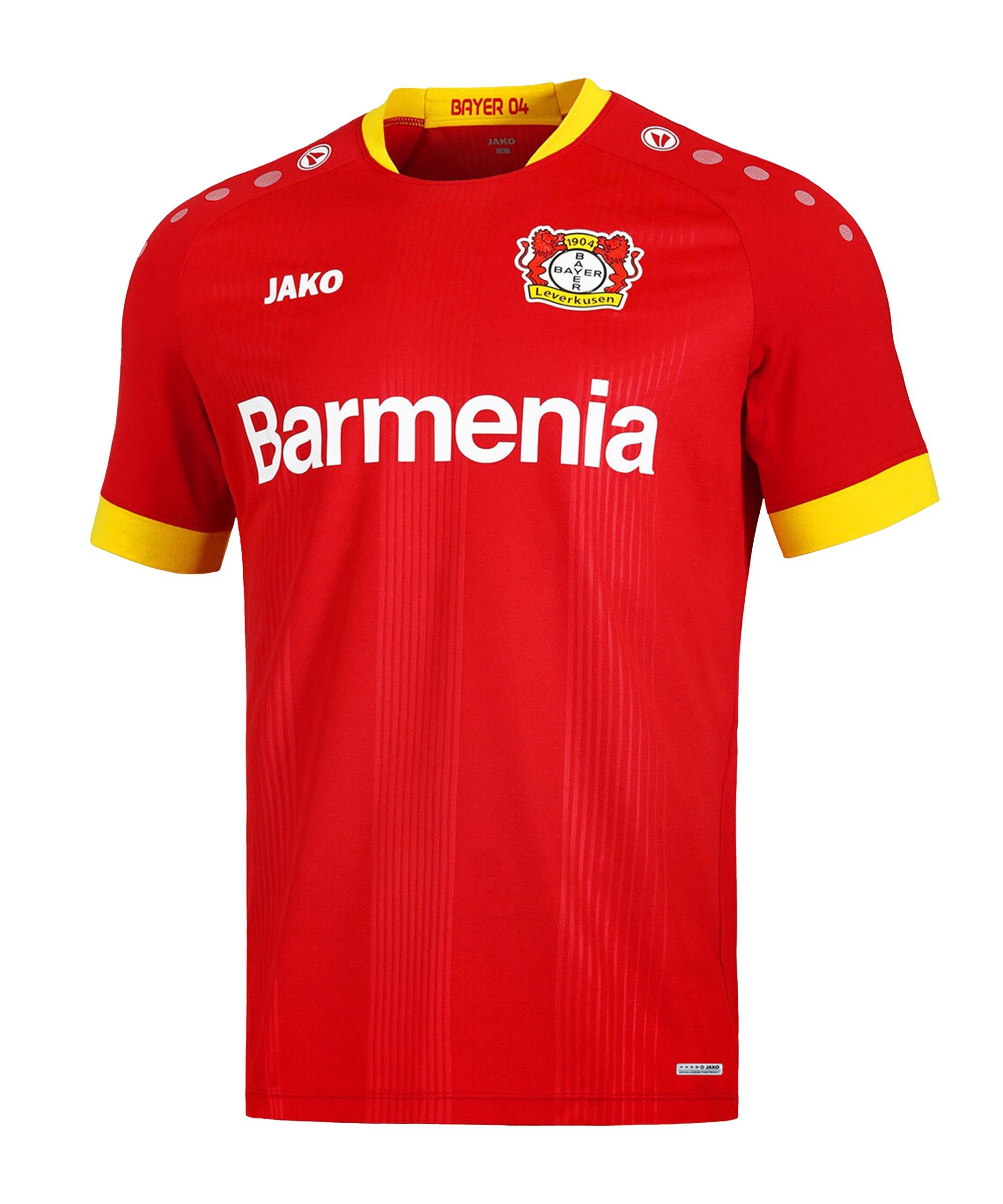 JAKO Bayer 04 Leverkusen Trikot Away 2020/2021 Rot F01 - rot