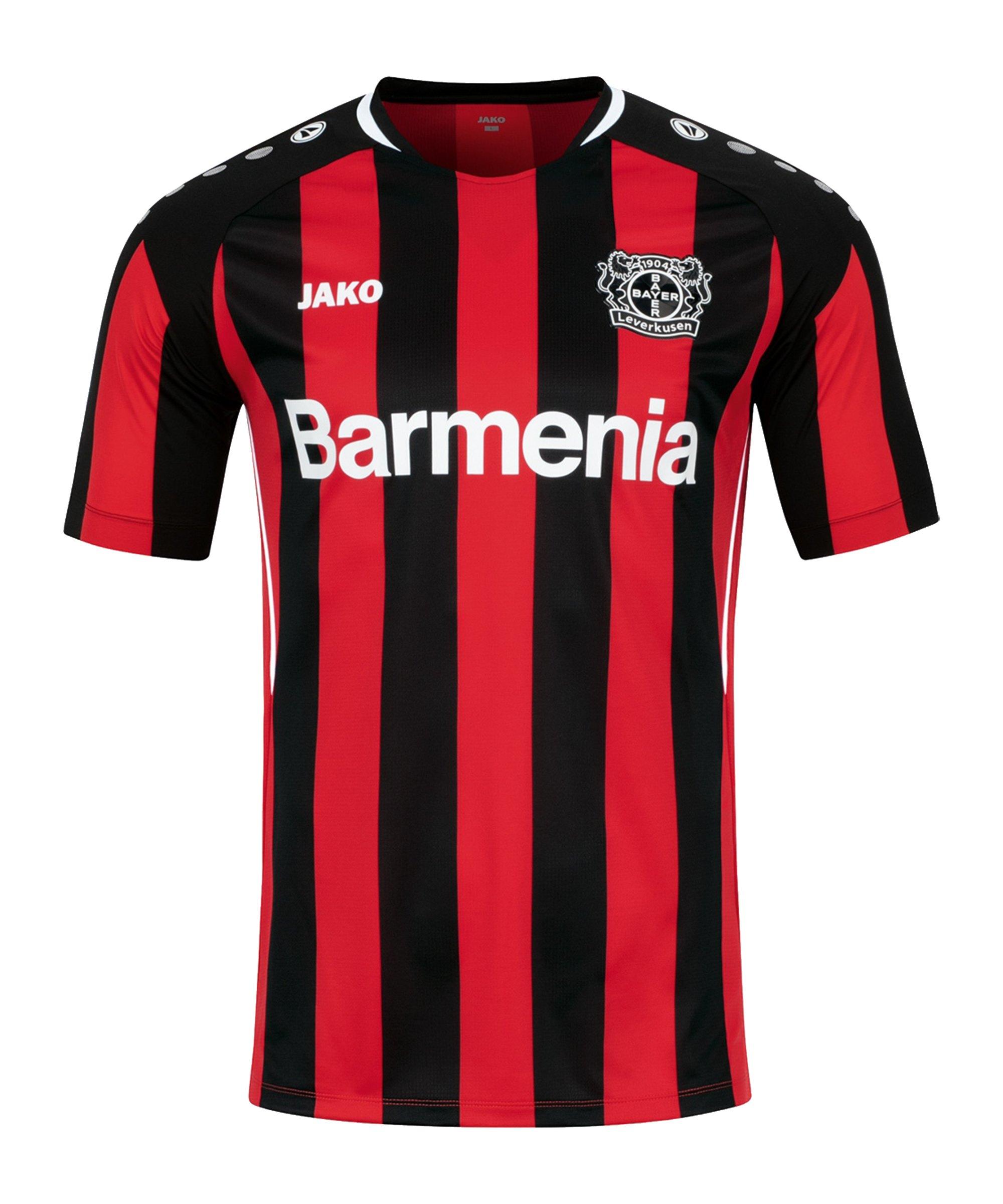 JAKO Bayer 04 Leverkusen Trikot Home 2021/2022 Schwarz Rot F681 - schwarz