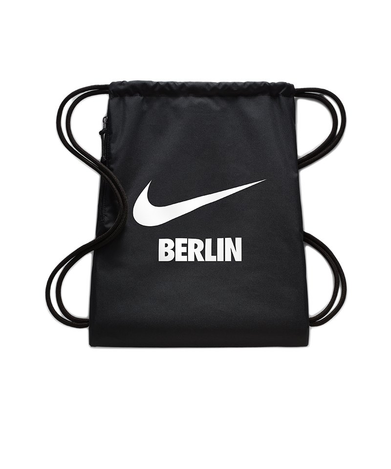 Nike Heritage Berlin Gymsack Schwarz F016 - schwarz