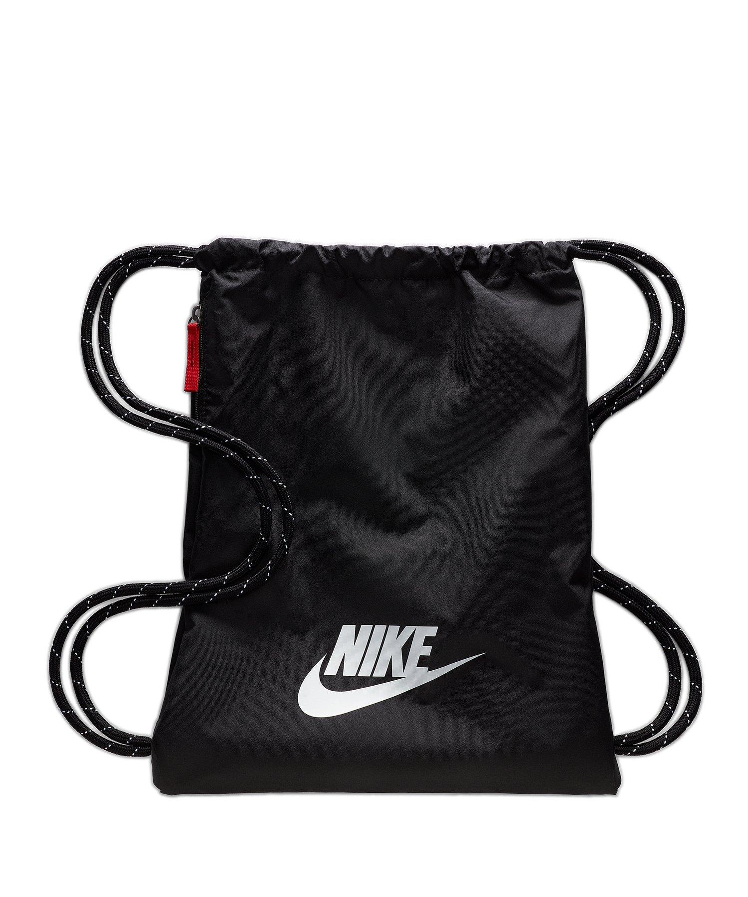 Nike Hertiage 2.0 Gymsack Schwarz F010 - schwarz