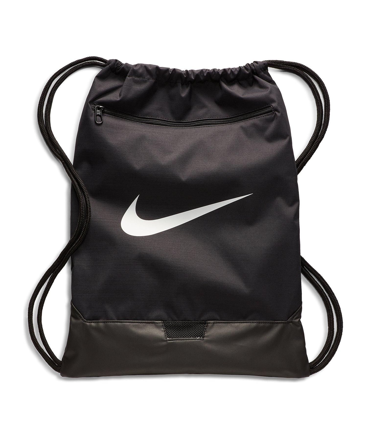 Nike Brasilia 9.0 Gymsack Schwarz F010 - schwarz