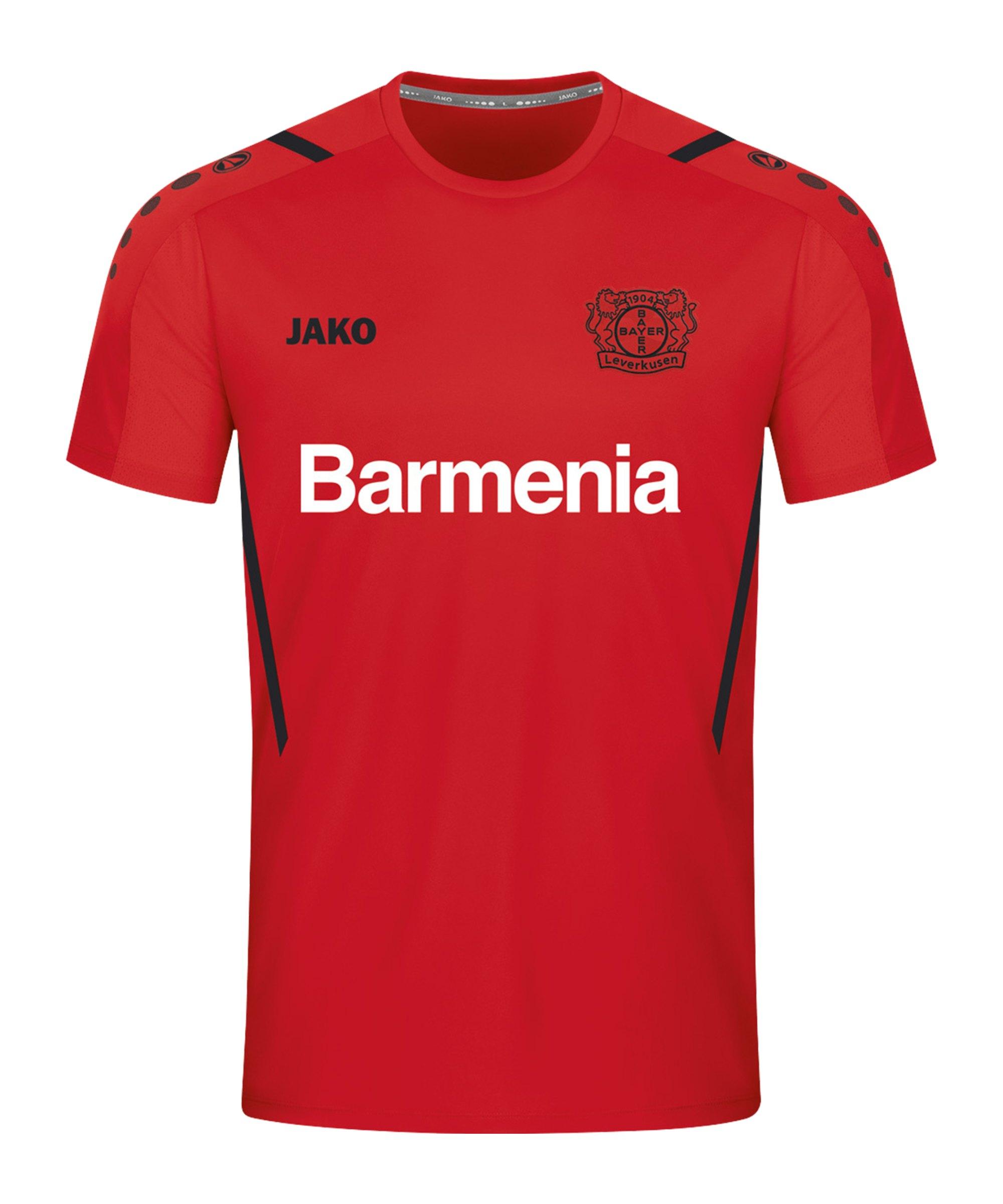 JAKO Bayer 04 Leverkusen Challenge T-Shirt Rot Schwarz F101 - rot