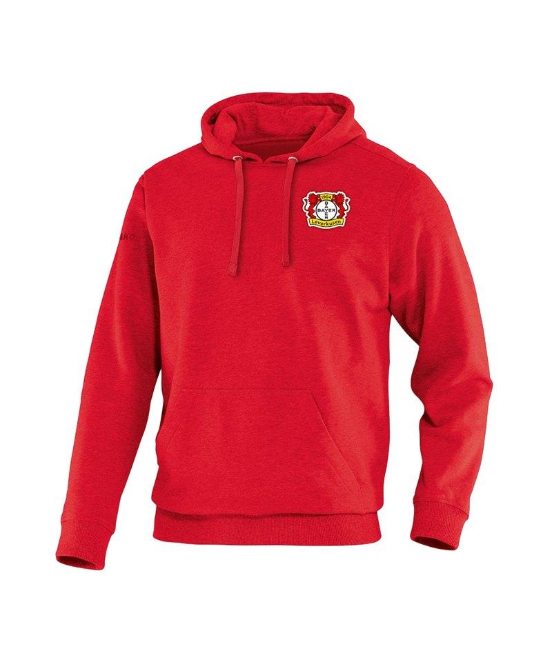 Jako Bayer 04 Leverkusen Kapuzensweatshirt Rot F01 - rot