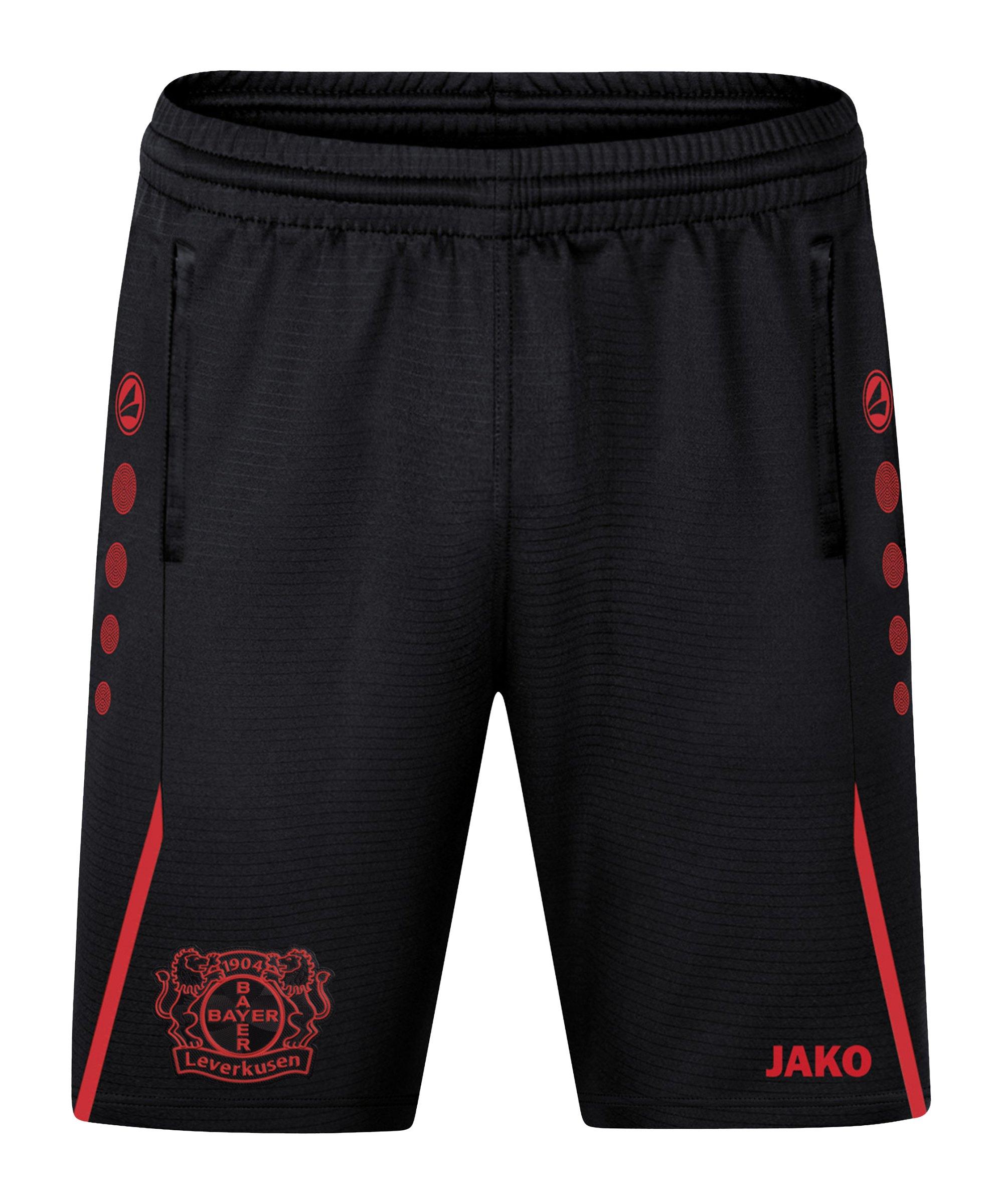 JAKO Bayer 04 Leverkusen Challenge Trainingsshort Schwarz Rot F812 - schwarz