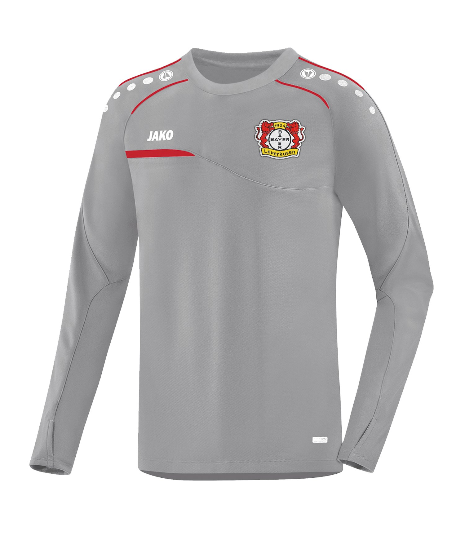 JAKO Bayer 04 Leverkusen Sweatshirt Prestige Grau F400 - grau