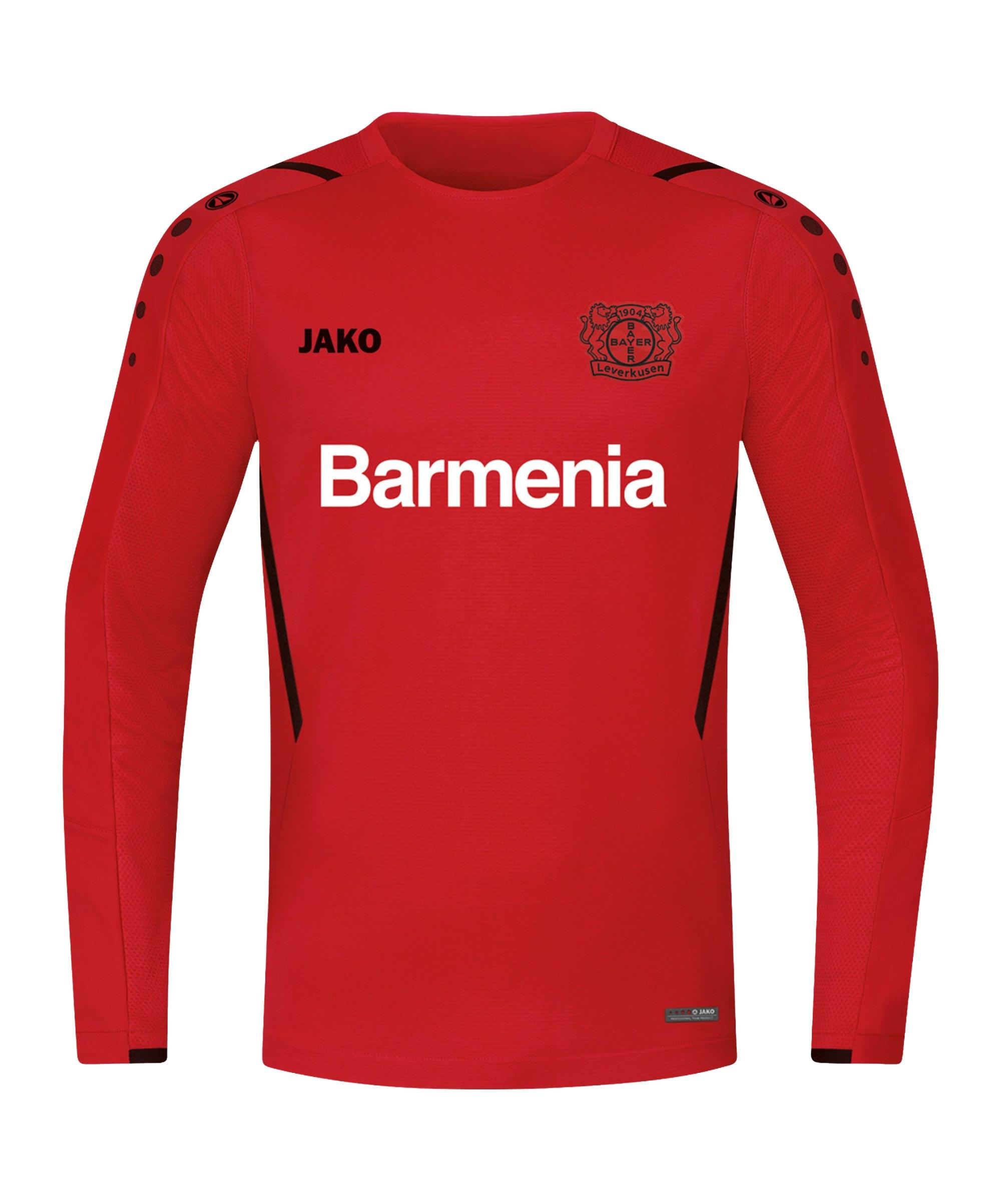 JAKO Bayer 04 Leverkusen Challenge Sweatshirt Kids Rot Schwarz F101 - rot