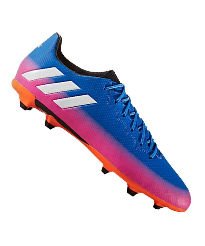 adidas FG Messi 16.3 Blau Weiss Orange - blau