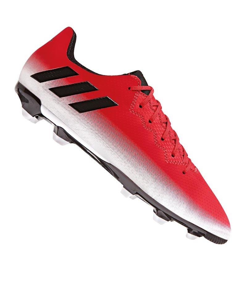 adidas FG Messi 16.3 J Kinder Rot Schwarz Weiss - rot