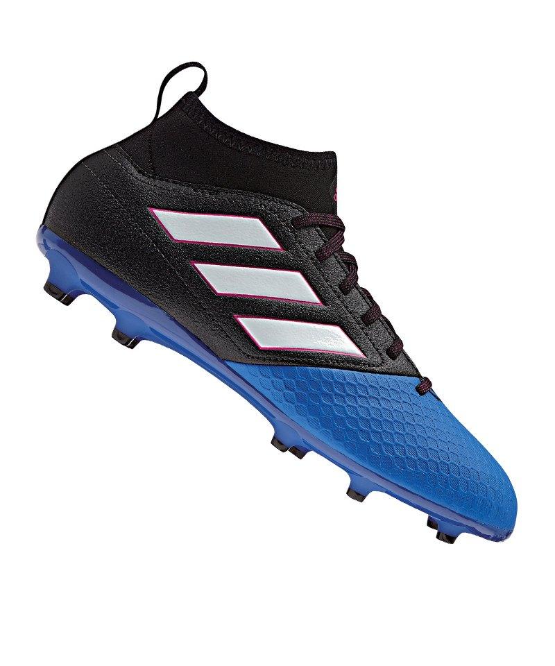 adidas FG ACE 17.3 Primemesh J Kinder Schwarz Blau - schwarz