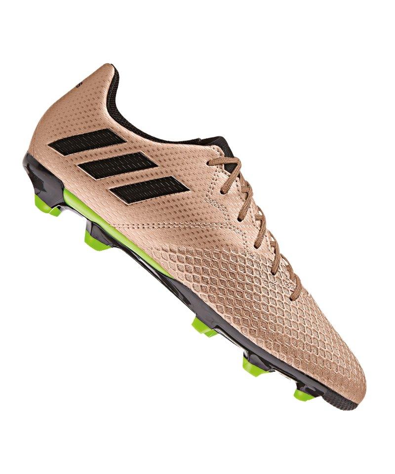 adidas FG Messi 16.3 J Kinder Gold - gold