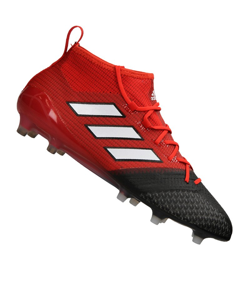 adidas FG ACE 17.1 Primeknit Rot Schwarz Weiss - rot