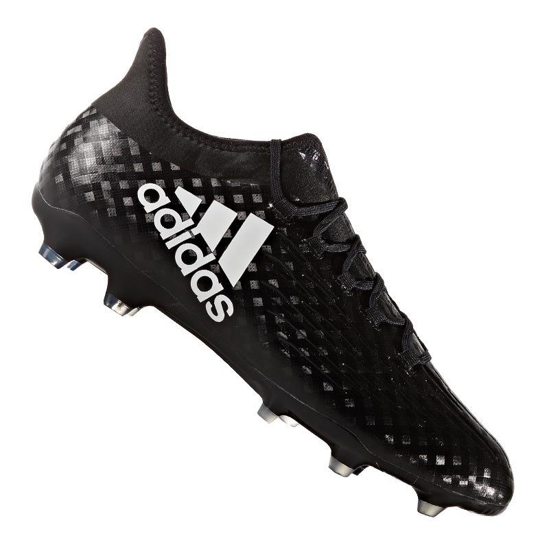 adidas FG X 16.2 Schwarz Weiss - schwarz
