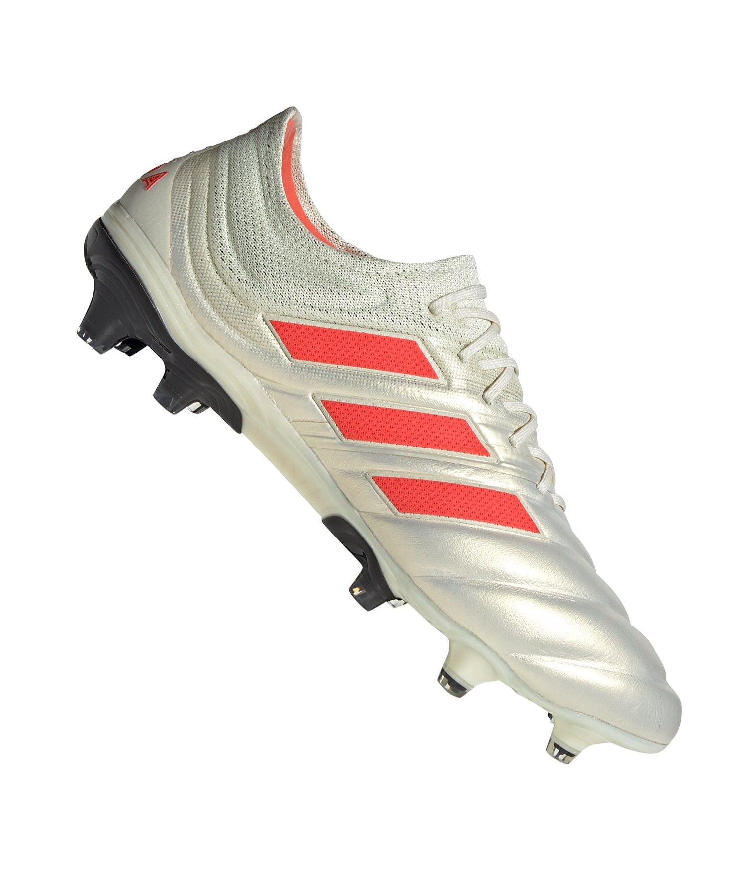 adidas COPA 19.1 FG Weiss Rot - weiss