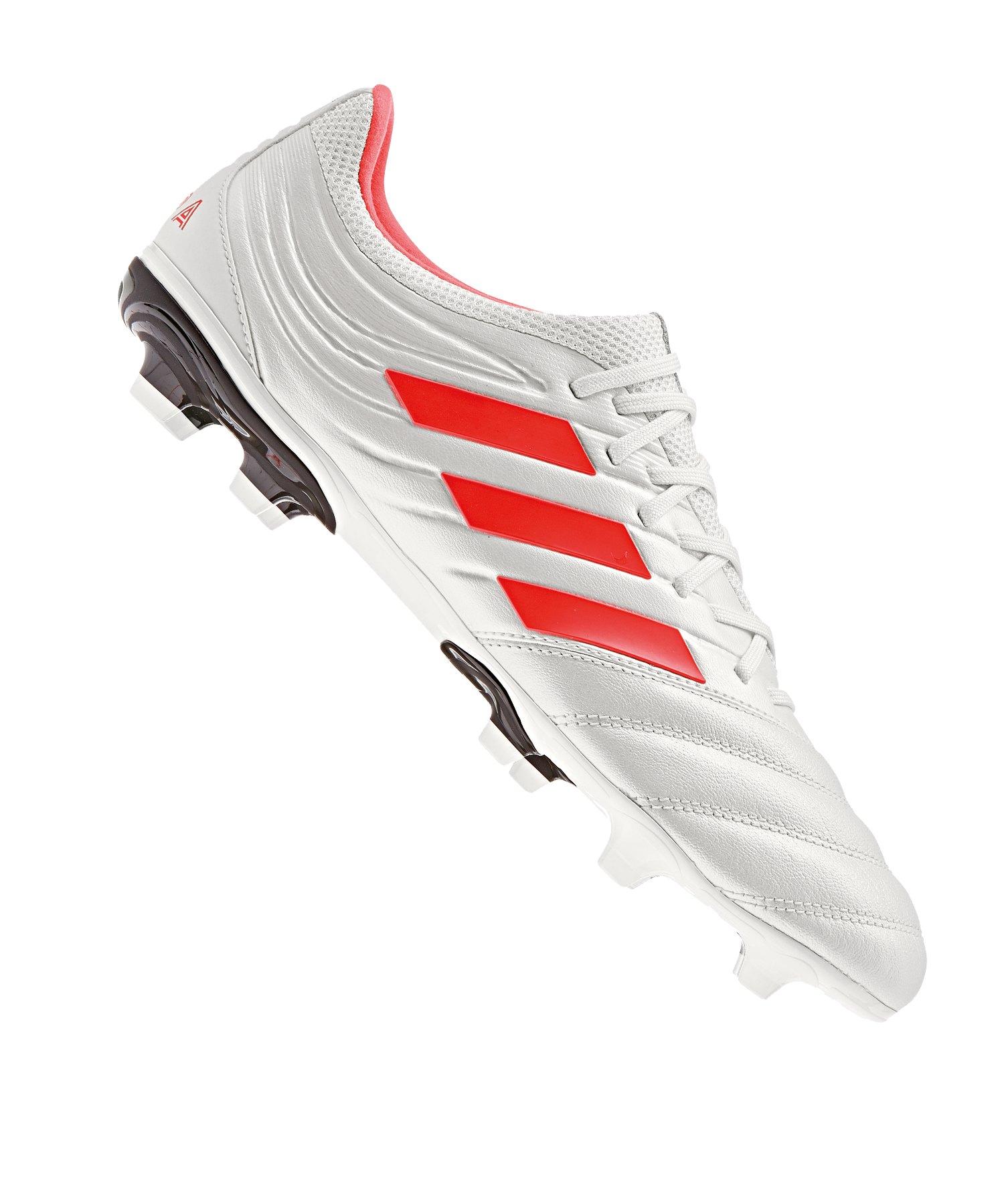 adidas COPA 19.3 FG Weiss Rot - weiss