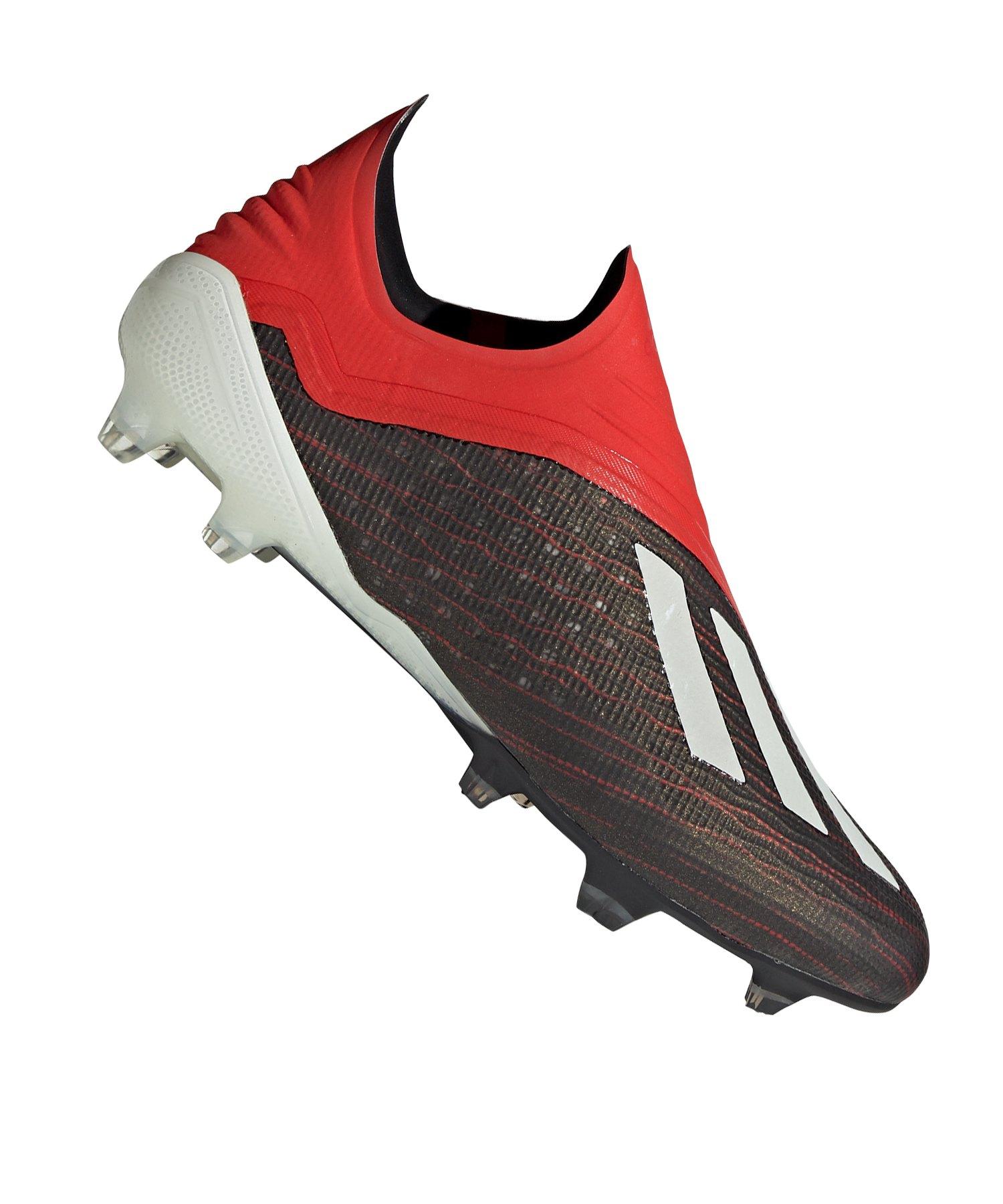 adidas X 18+ FG Schwarz Rot - schwarz