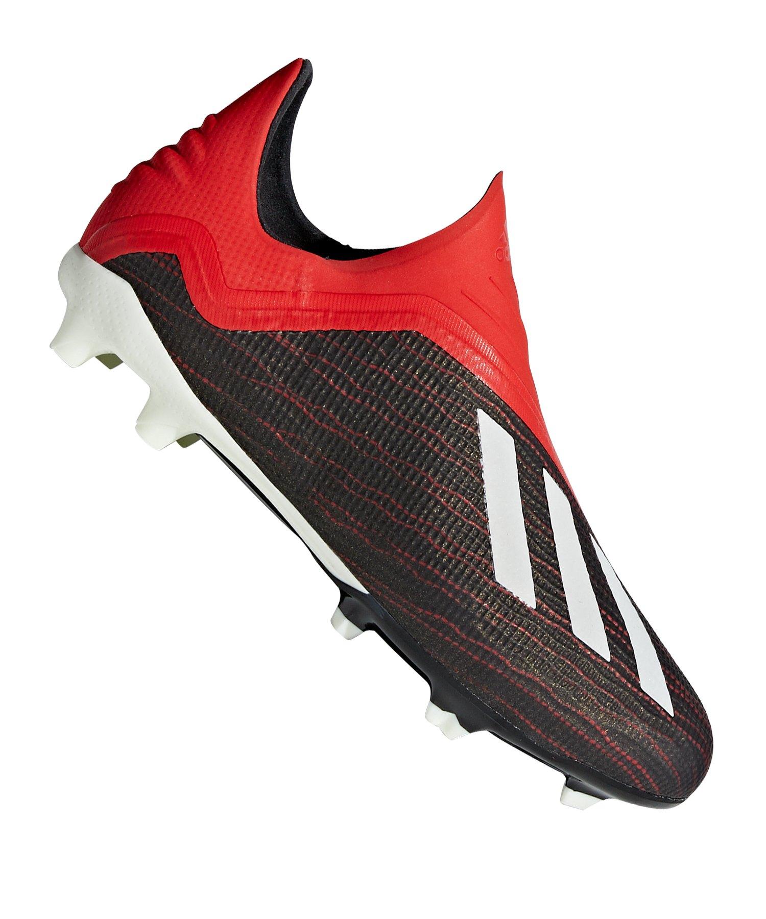 adidas X 18+ FG J Kids Schwarz Rot - schwarz