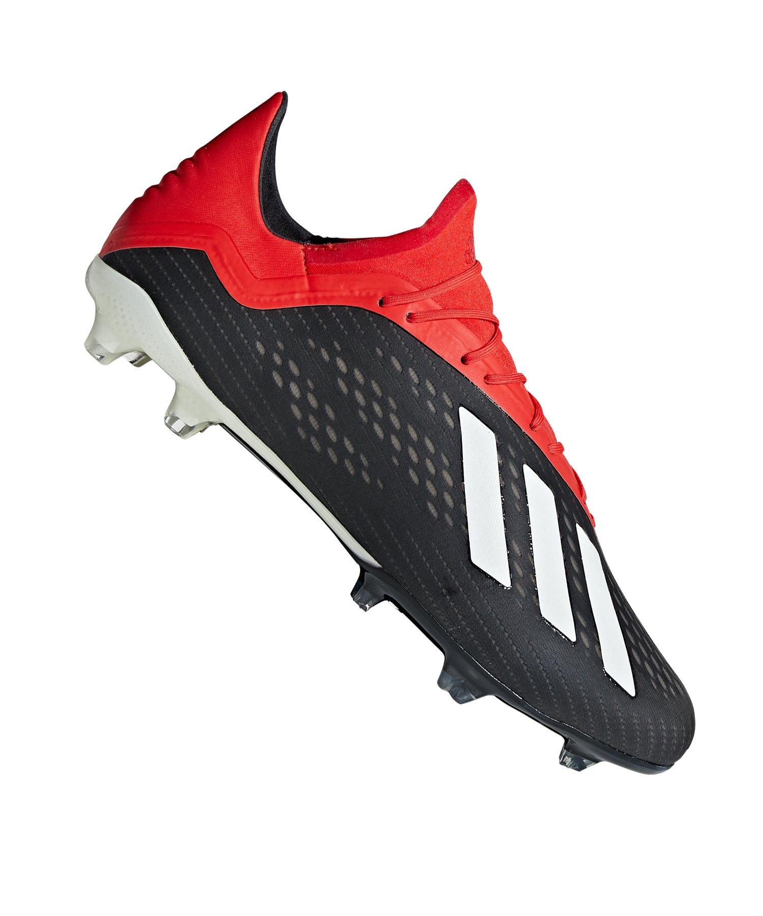 adidas X 18.2 FG Schwarz Rot - schwarz