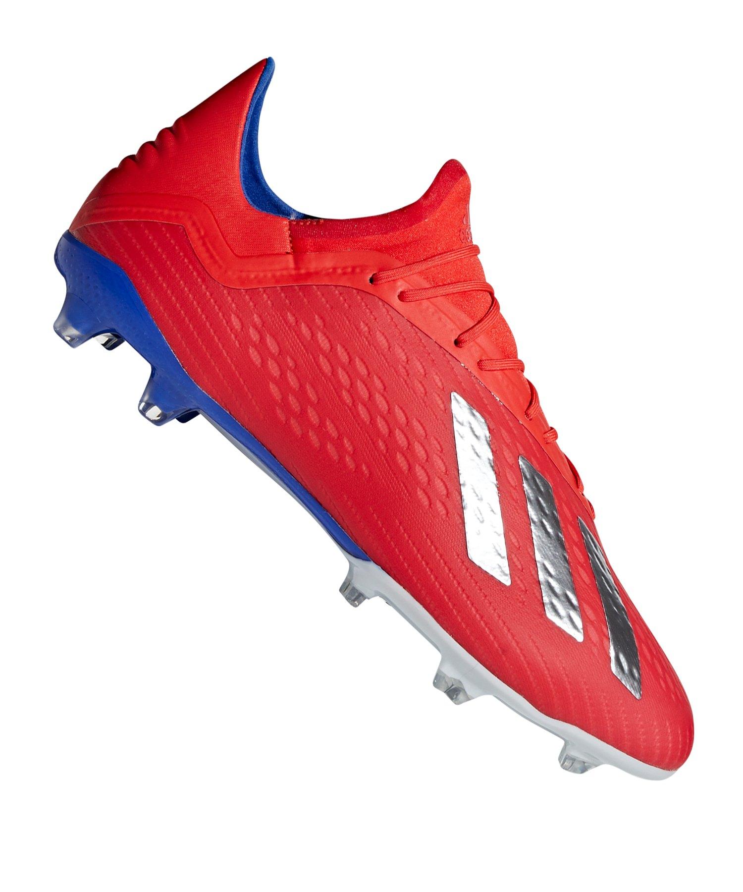 adidas X 18.2 FG Rot Blau - rot