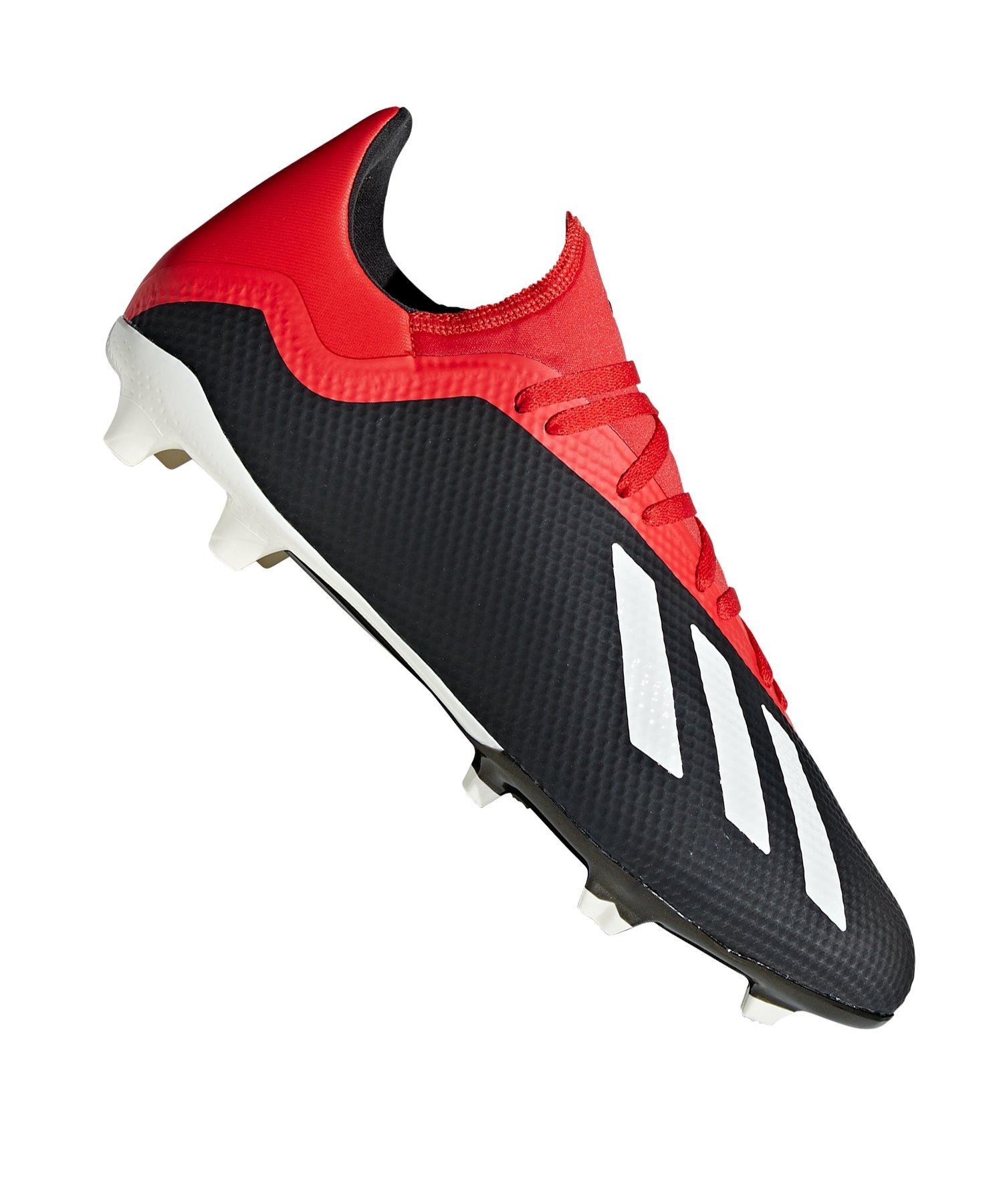 adidas X 18.3 FG Schwarz Rot - schwarz
